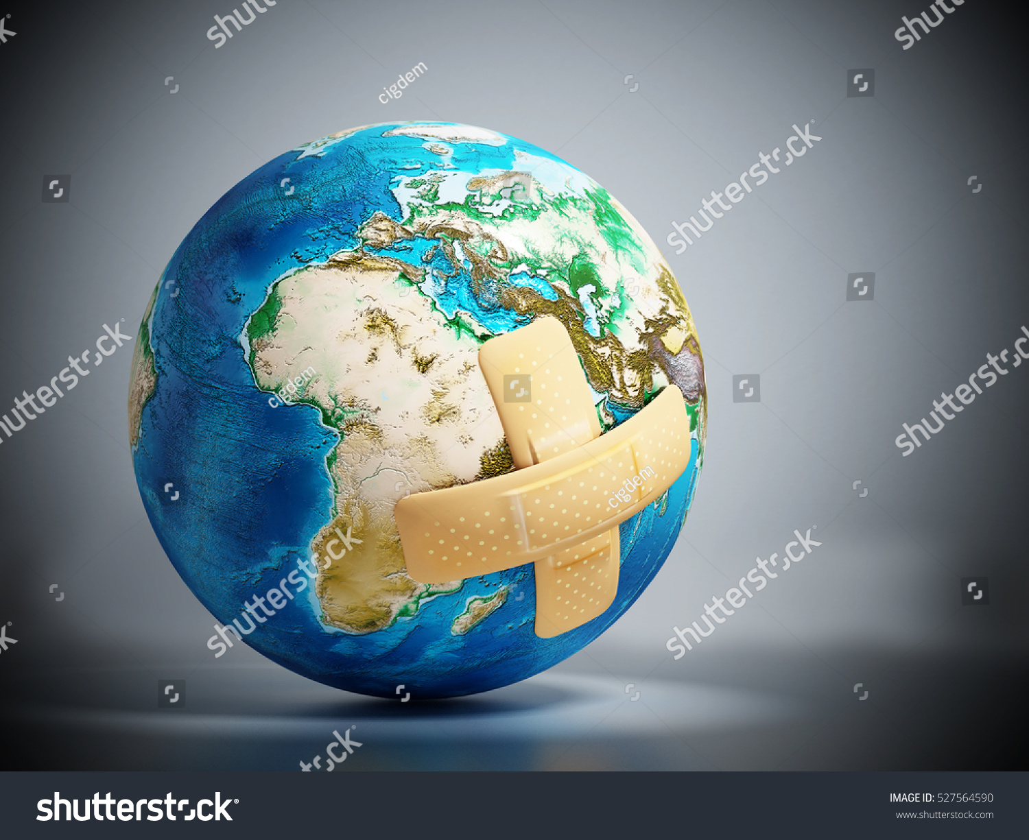 Crossed bandaids on earth model 3d stock illustration 527564590 crossed band aids on earth model 3d illustration sciox Gallery