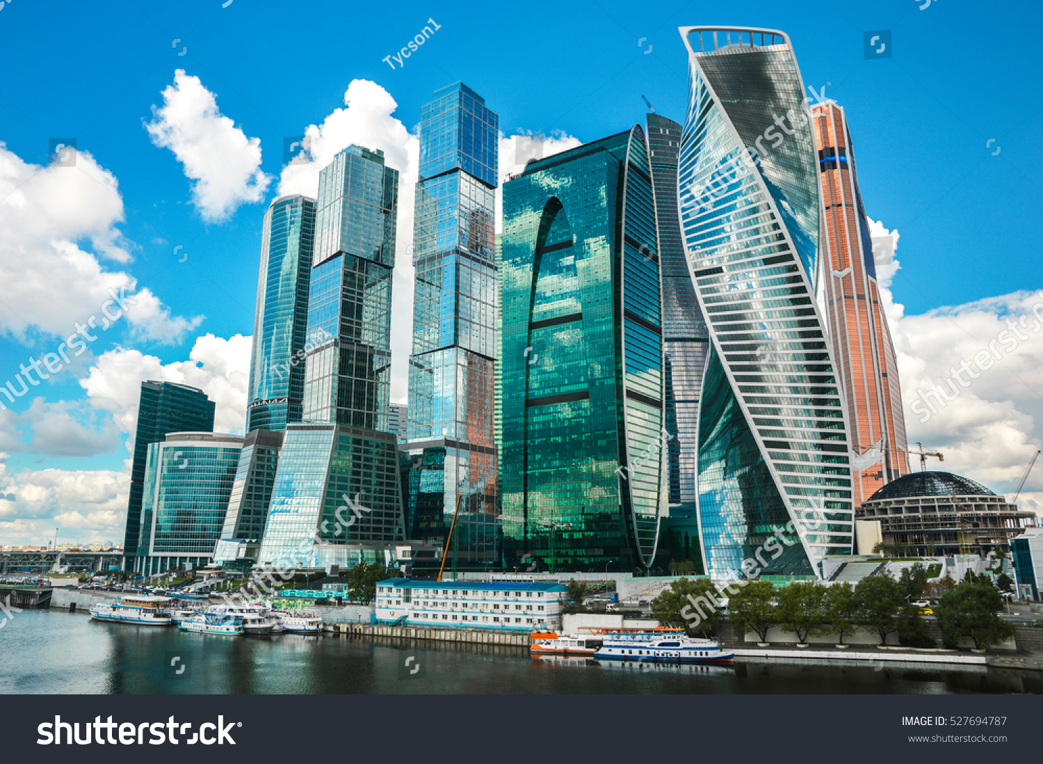Moscow International Business Center Moscow City Stock Foto ...