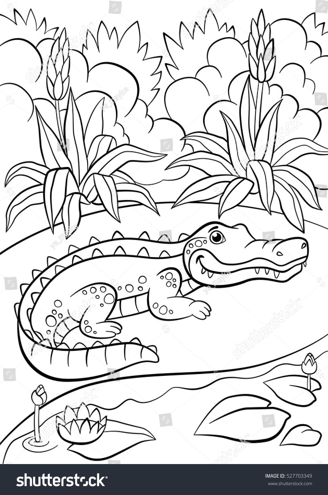 Enchanting Allie Alligator Coloring Page Model - Framing Coloring ...