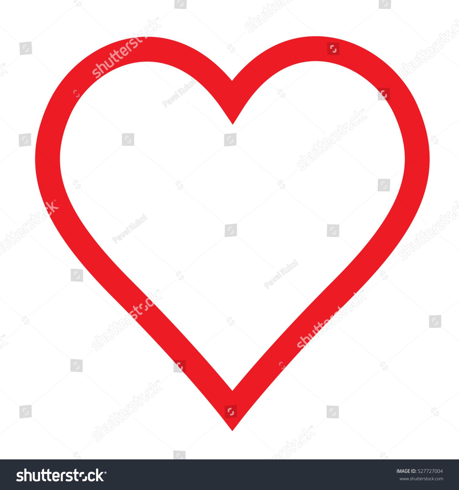Love Vector Heart Shape Symbol Design Stock Vector Royalty Free