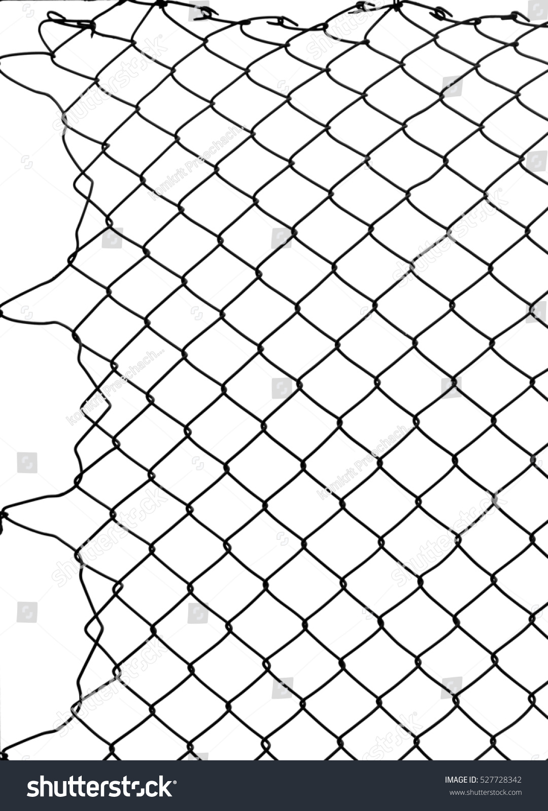 Damage Wire Mesh Stock Photo 527728342 - Shutterstock