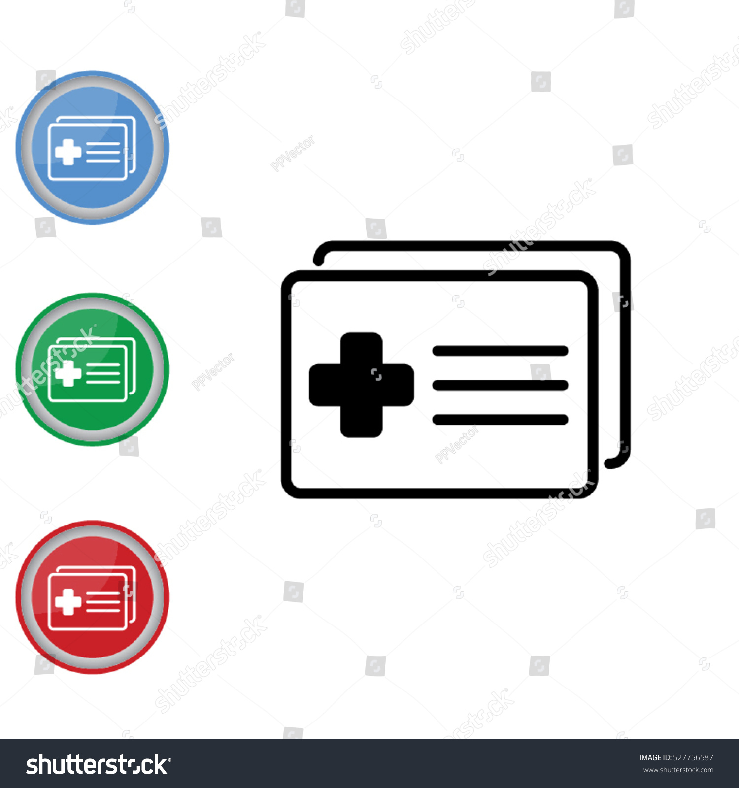 Web icon medical forms medical certificate stock vector 527756587 medical forms medical certificate xflitez Gallery