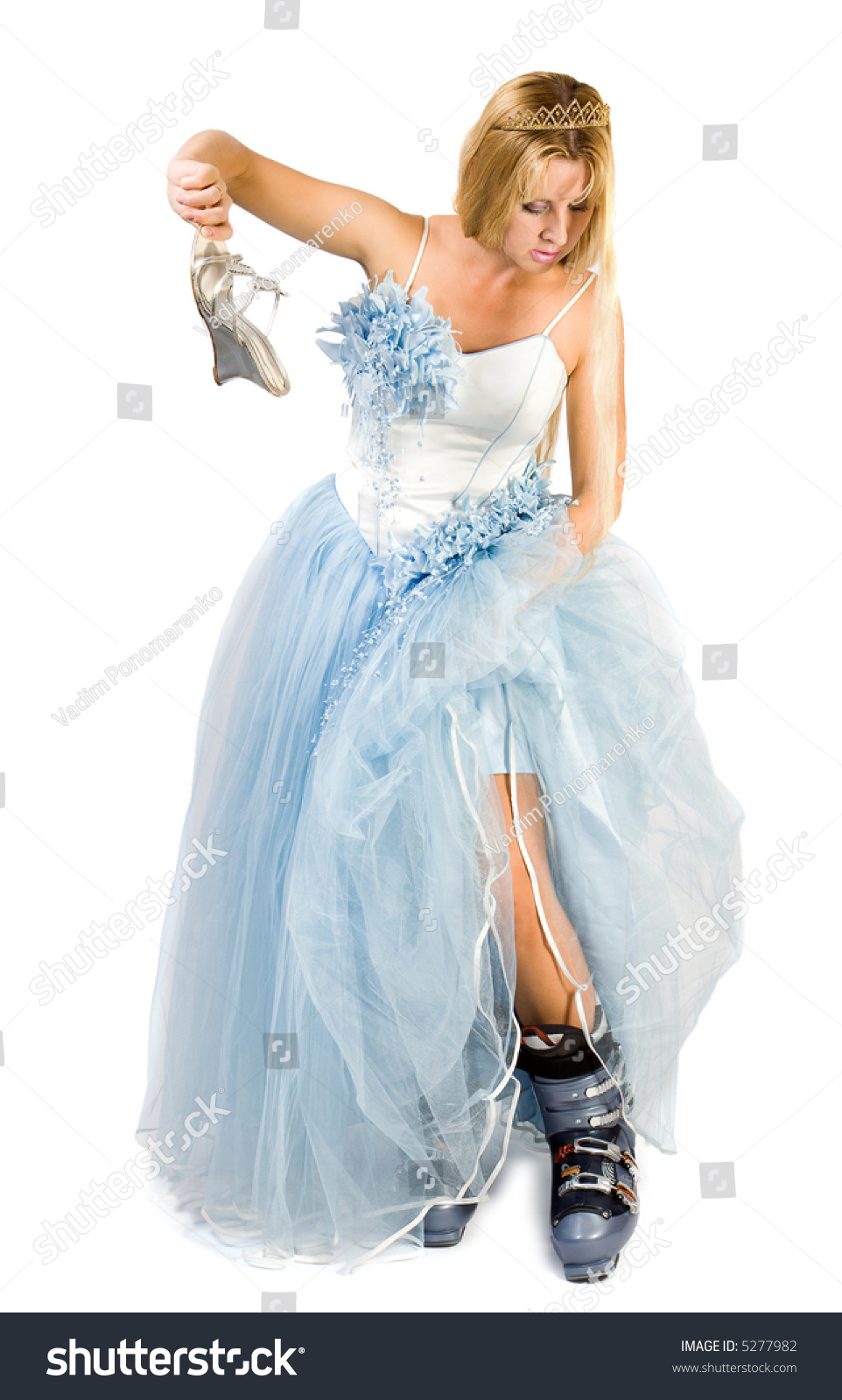Beautiful Bride Pretty Women Wedding Dress Stock Photo (100% Legal ...