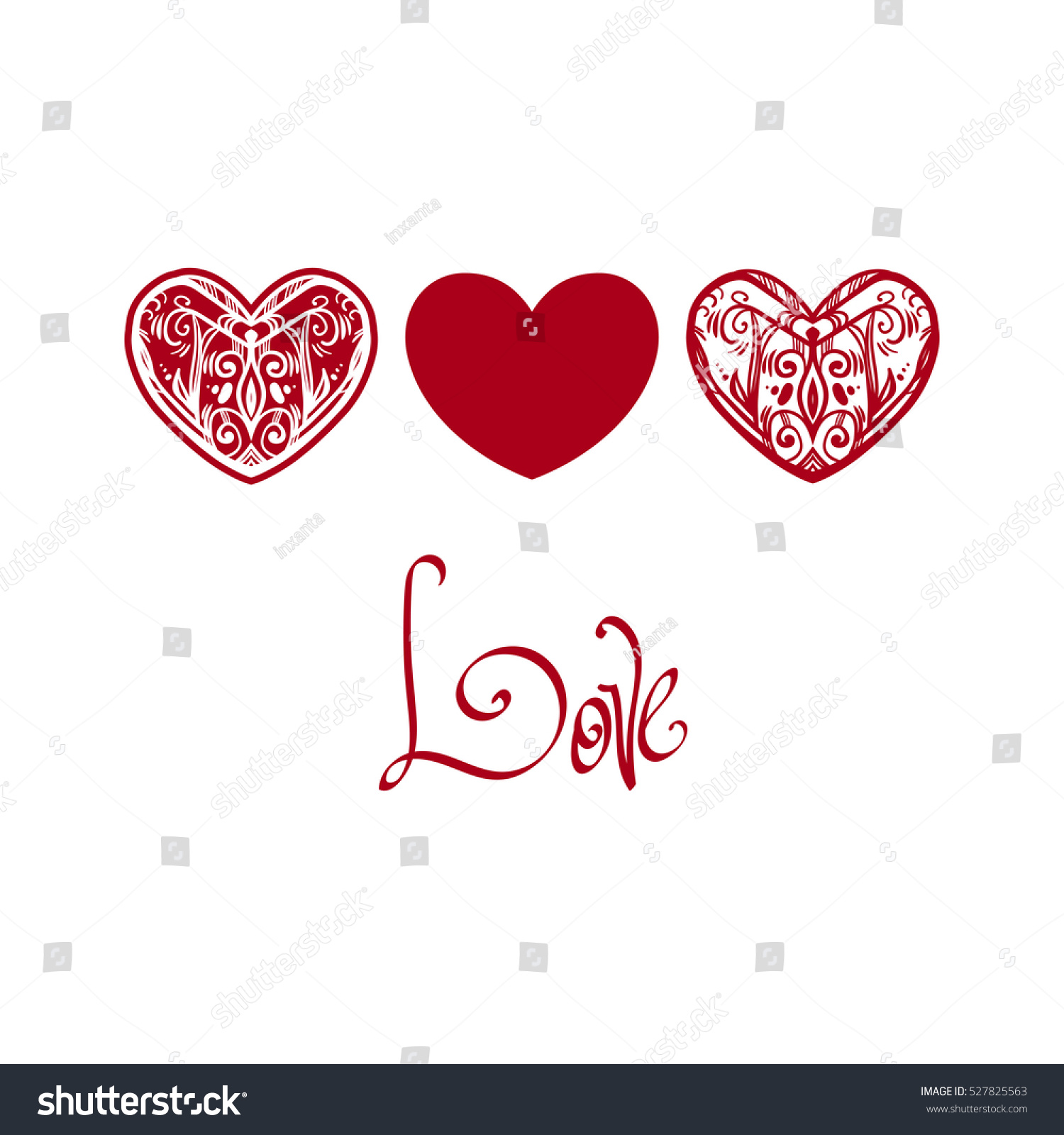 Beautiful Openwork Heart The Elements For Valentines Day Symbols