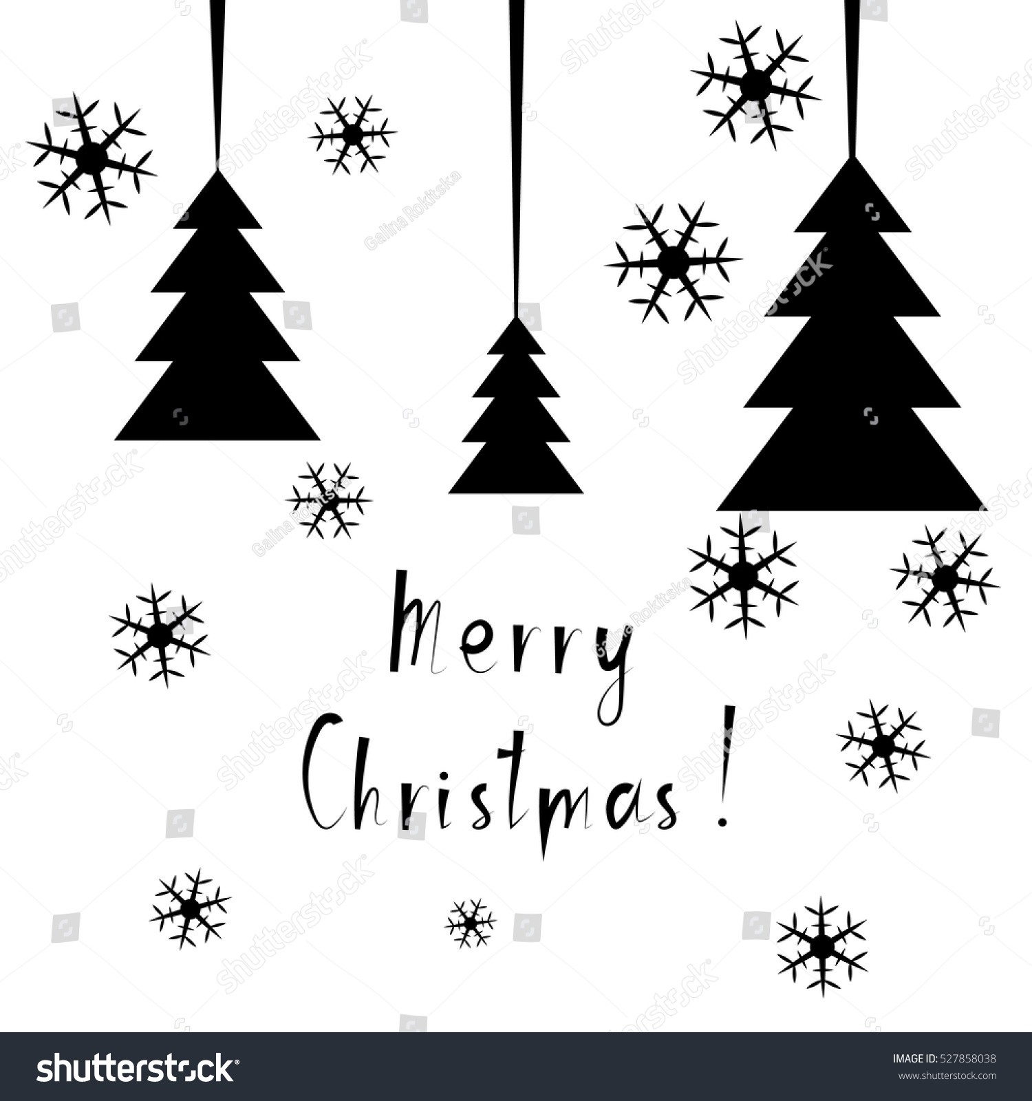 Fir Tree Outline Symbol Dark Illustration Fir Tree