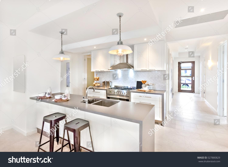 Modern Kitchen Interior Day Time Way Stock Photo 527880829