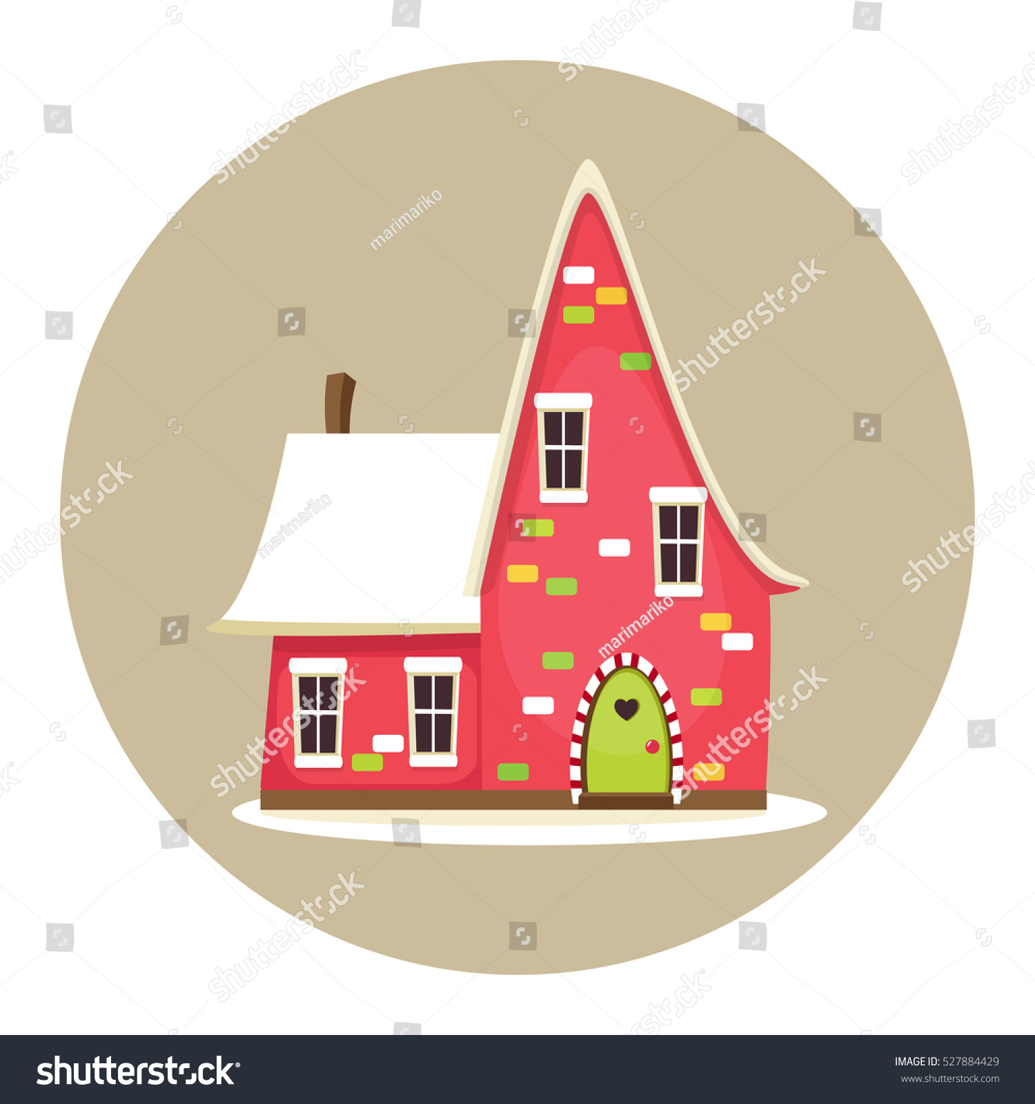 Cute cartoon colorful house christmas new stock vector 527884429 cute cartoon colorful house christmas or new year greeting card invitation poster kristyandbryce Gallery