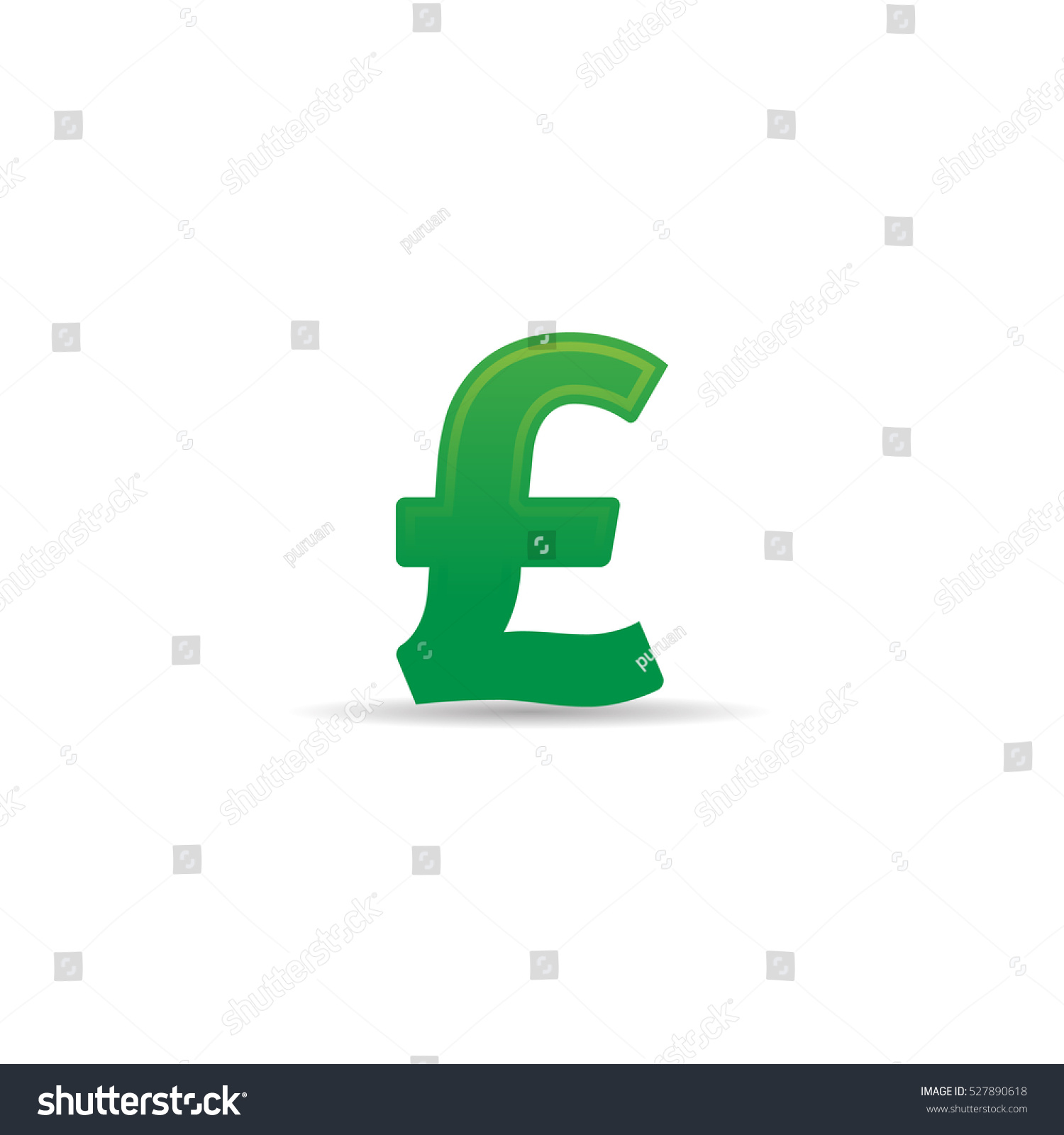 Pound Sterling Symbol Icon Color Uk Stock Vector 527890618