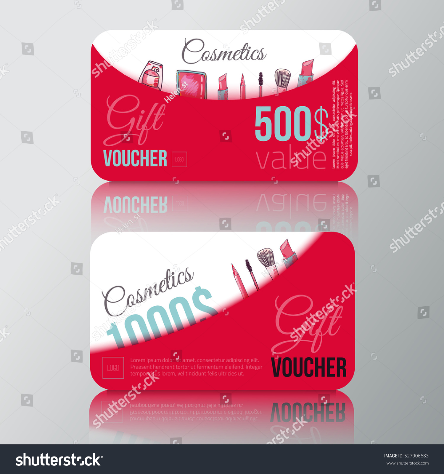 Cosmetic Products Gift Voucher Make Vector Vector 527906683 – Make Voucher