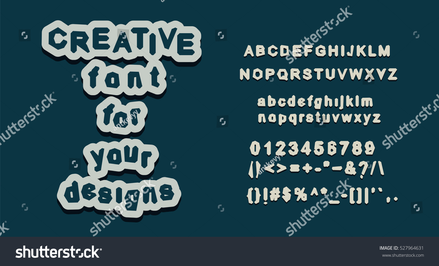English alphabet letter set creative font stock vector 527964631 creative font all glyph uppercase and lowercase characters with numbers biocorpaavc Image collections