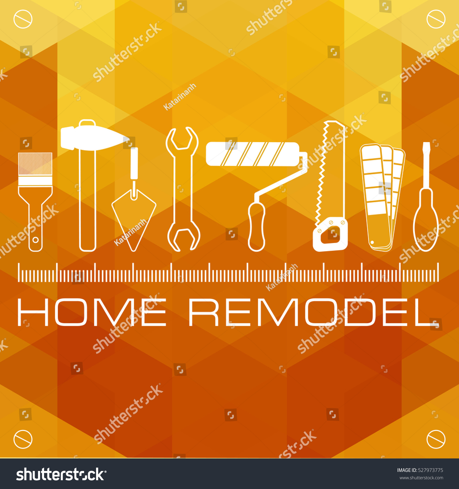 Remodeling Home Home Renovation Technology Concept Stock Vector