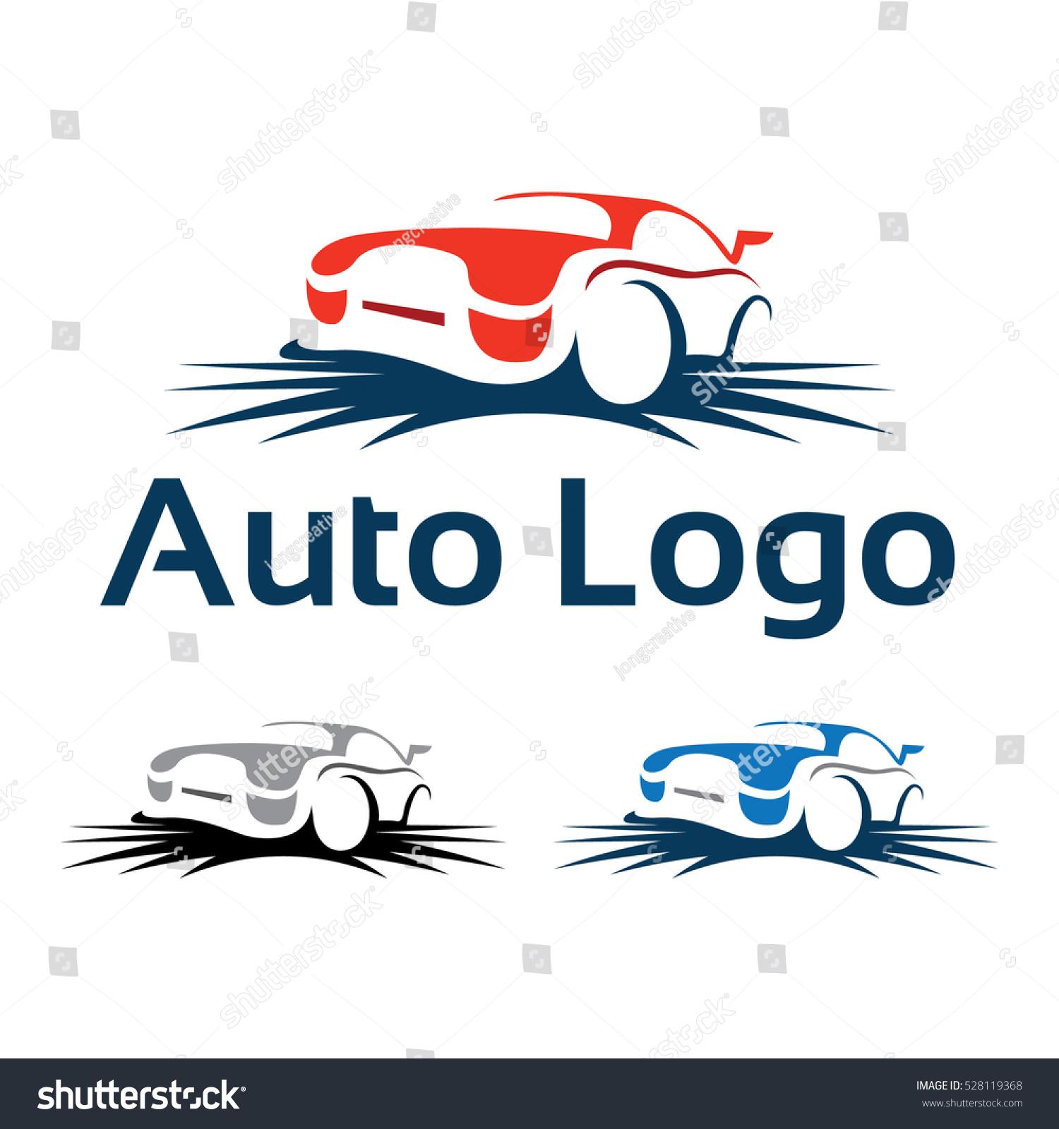 Cool car outline logo 9