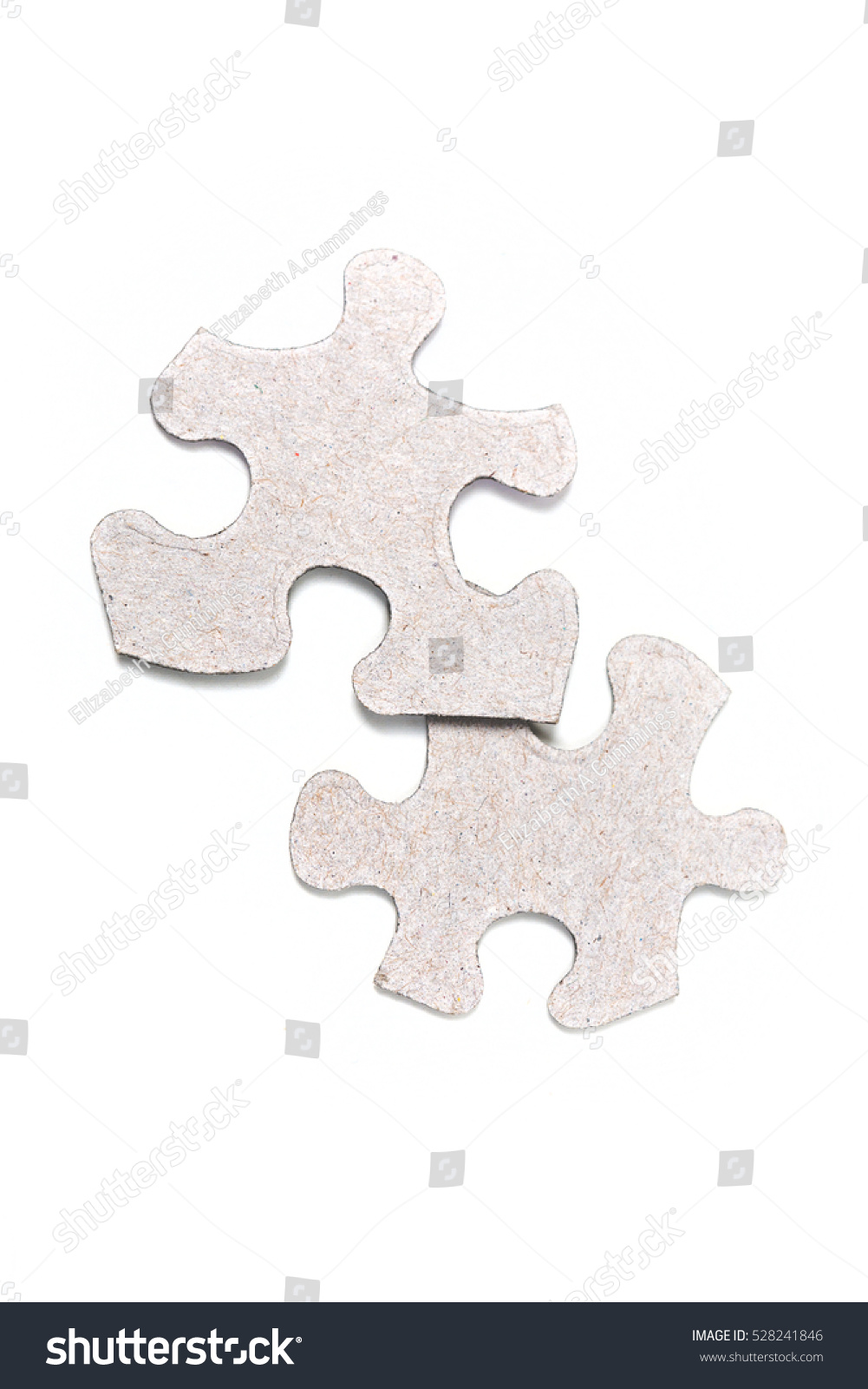 Two Puzzle Pieces Background
