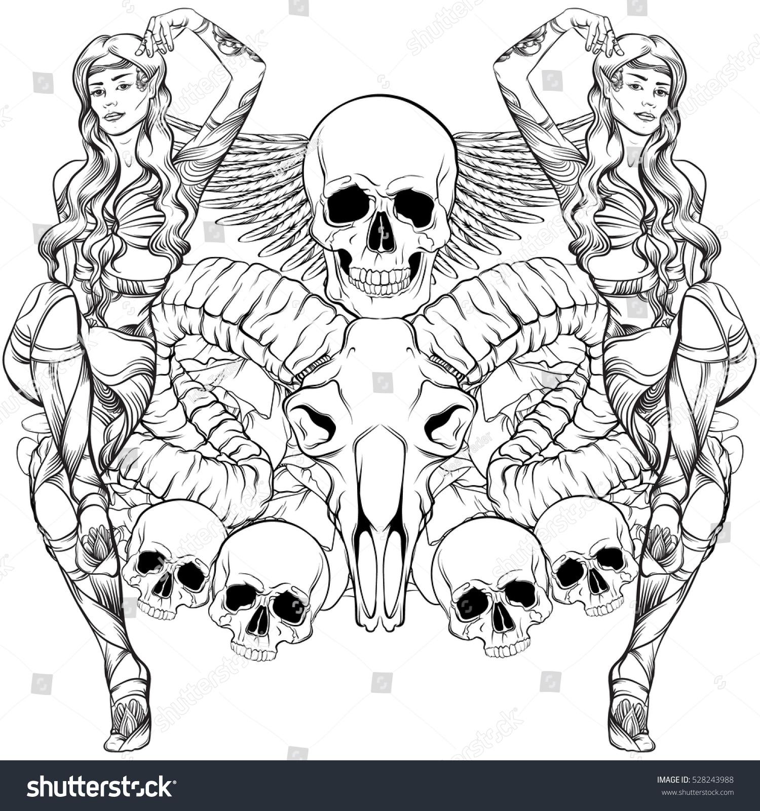 Vector Illustration Beautiful Elf Ram Human Stock Vector 528243988 ...