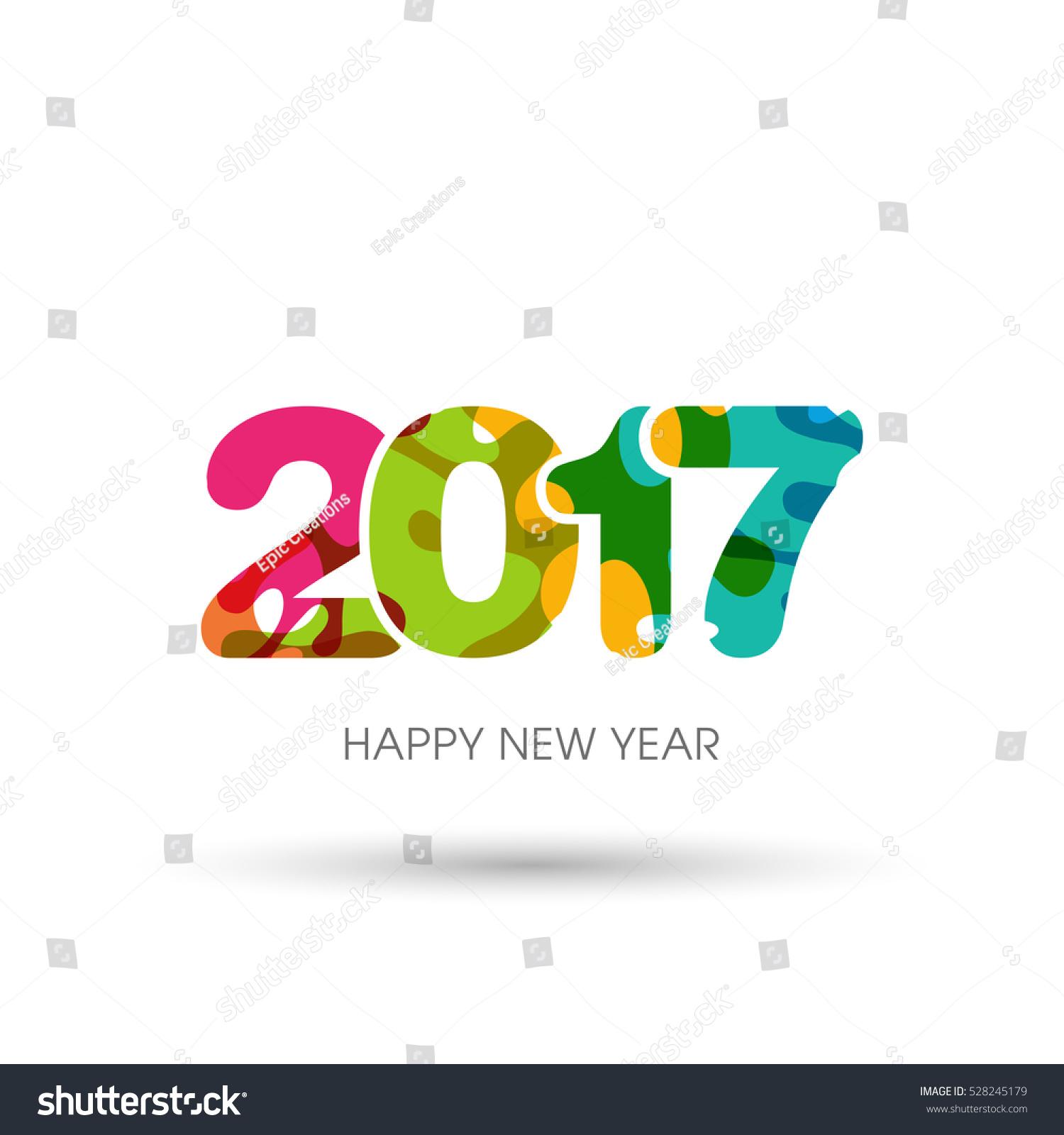 Happy New Year 2017 Text Design Stock Vector 528245179 ...