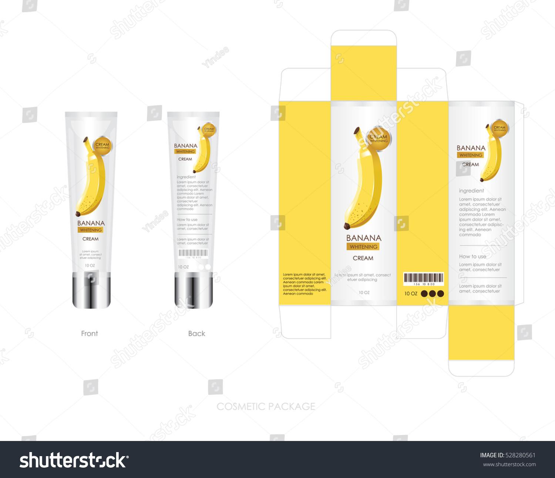 Package Design   Banana Cosmetic Package Design Include Box Stock Vektorgrafik