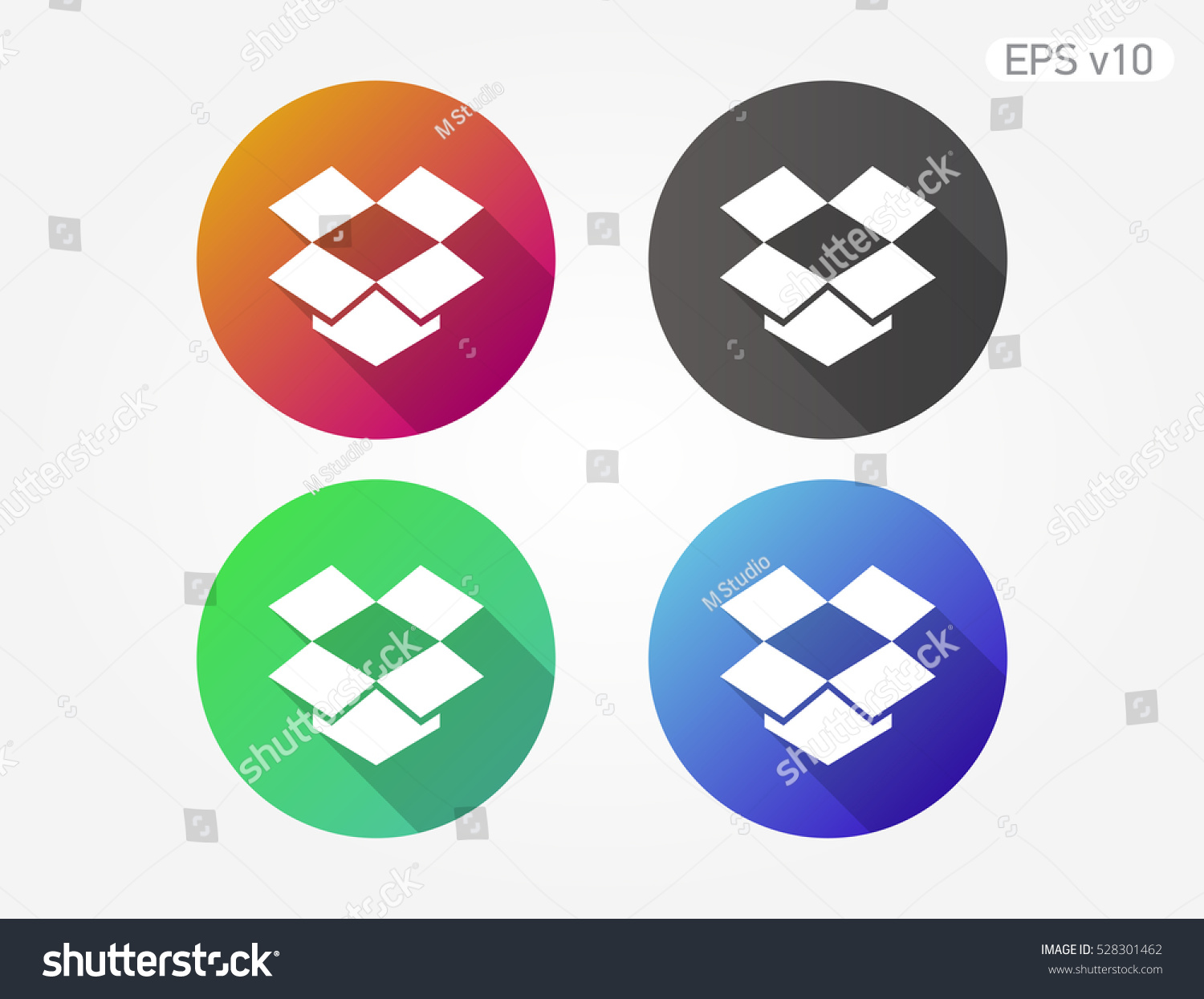 Colored icon open box symbol shadow stock vector 528301462 colored icon of open box symbol with shadow biocorpaavc Choice Image
