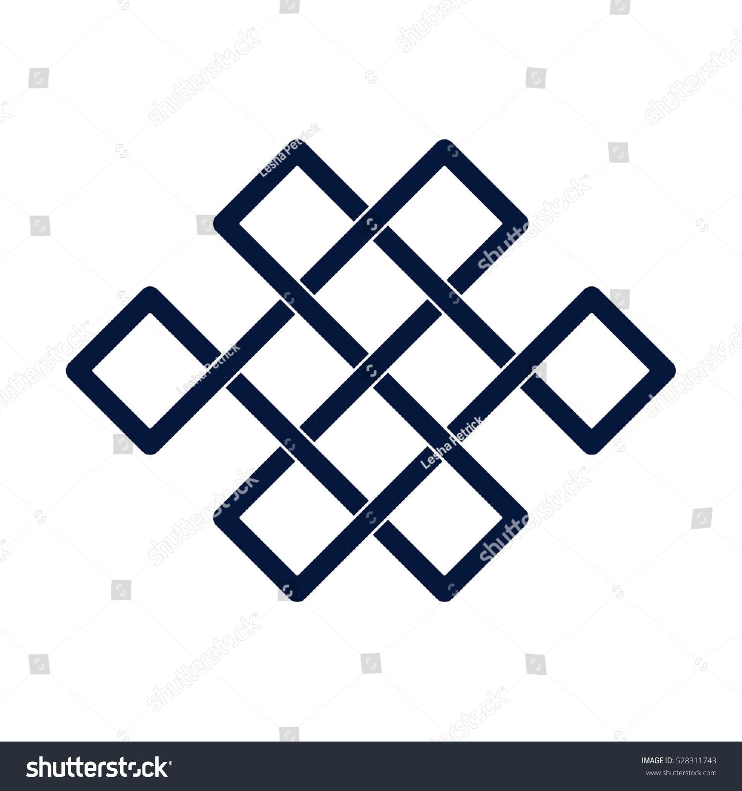 Mystic Knot Men Minimalistic Flat Line Stock Vector Royalty Free