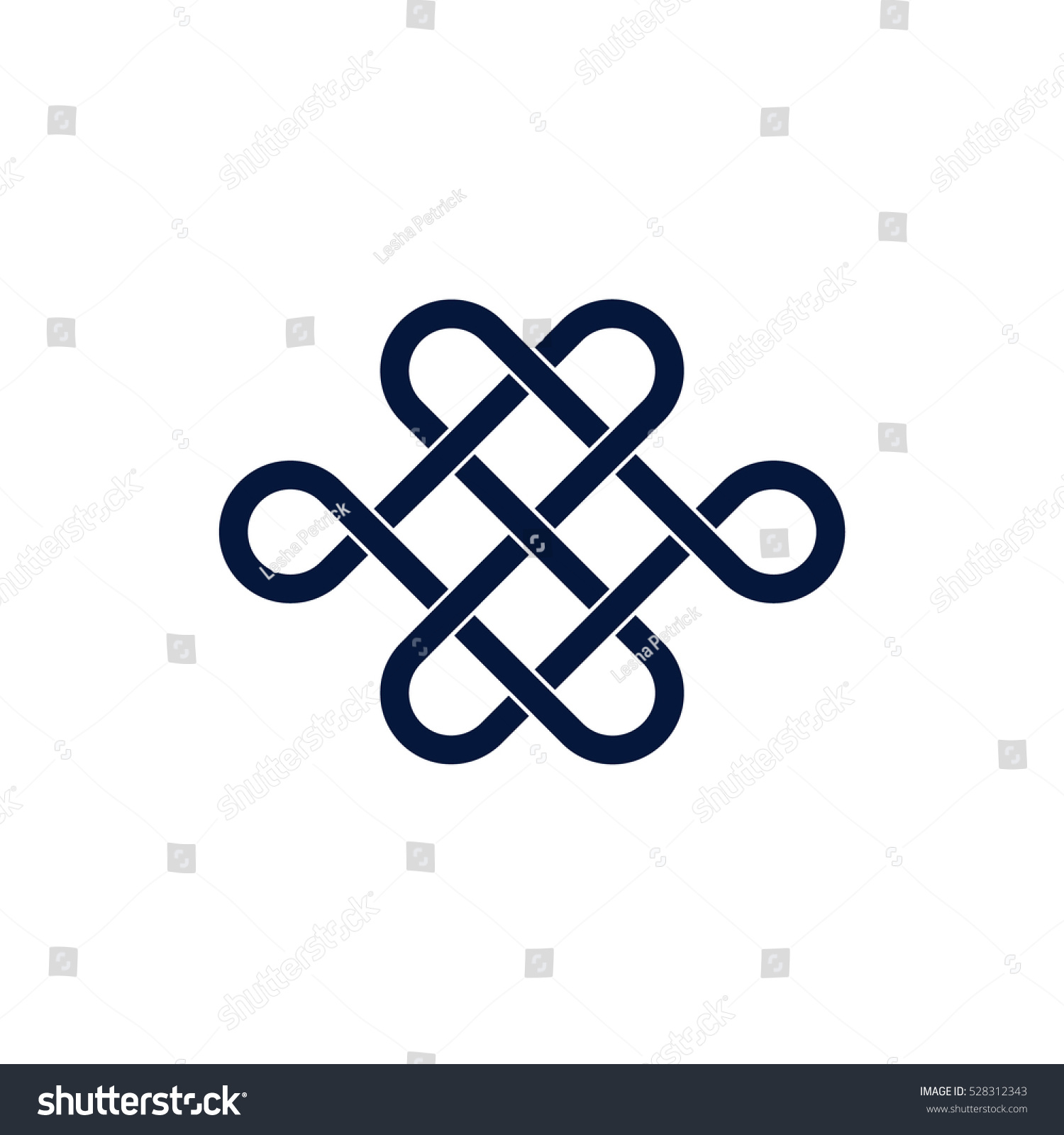 Mystic Knot Minimalistic Flat Line Color Stock Vector Royalty Free