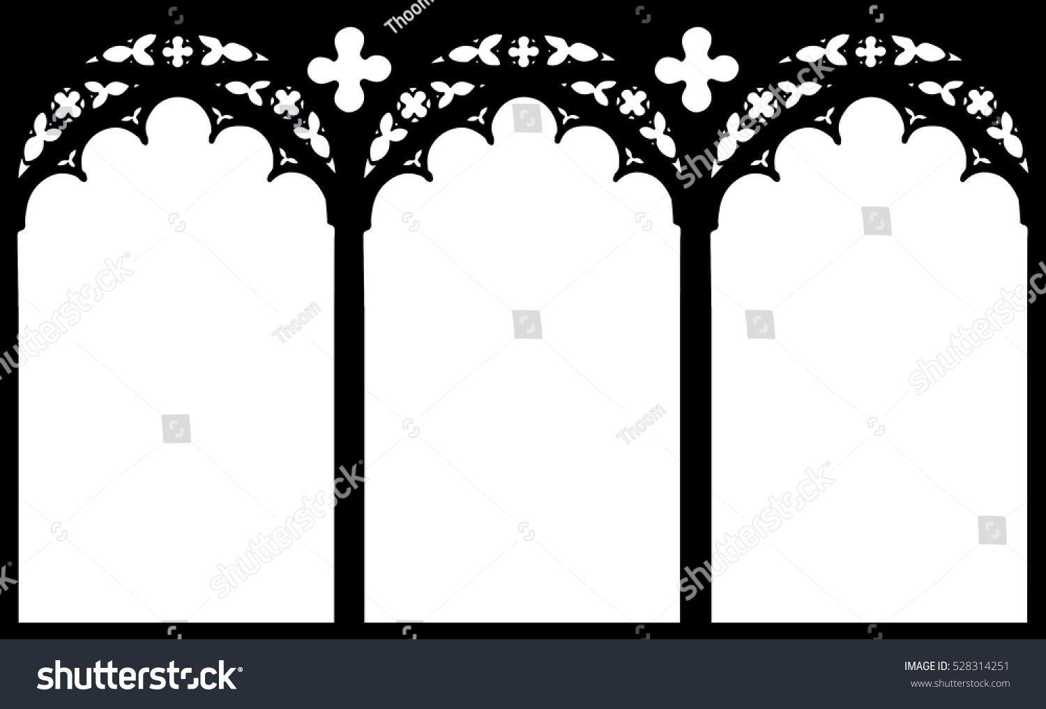 Transom Windows A Useful Design Element: Church Stained Glass Gothic Window Vector Stock Vector