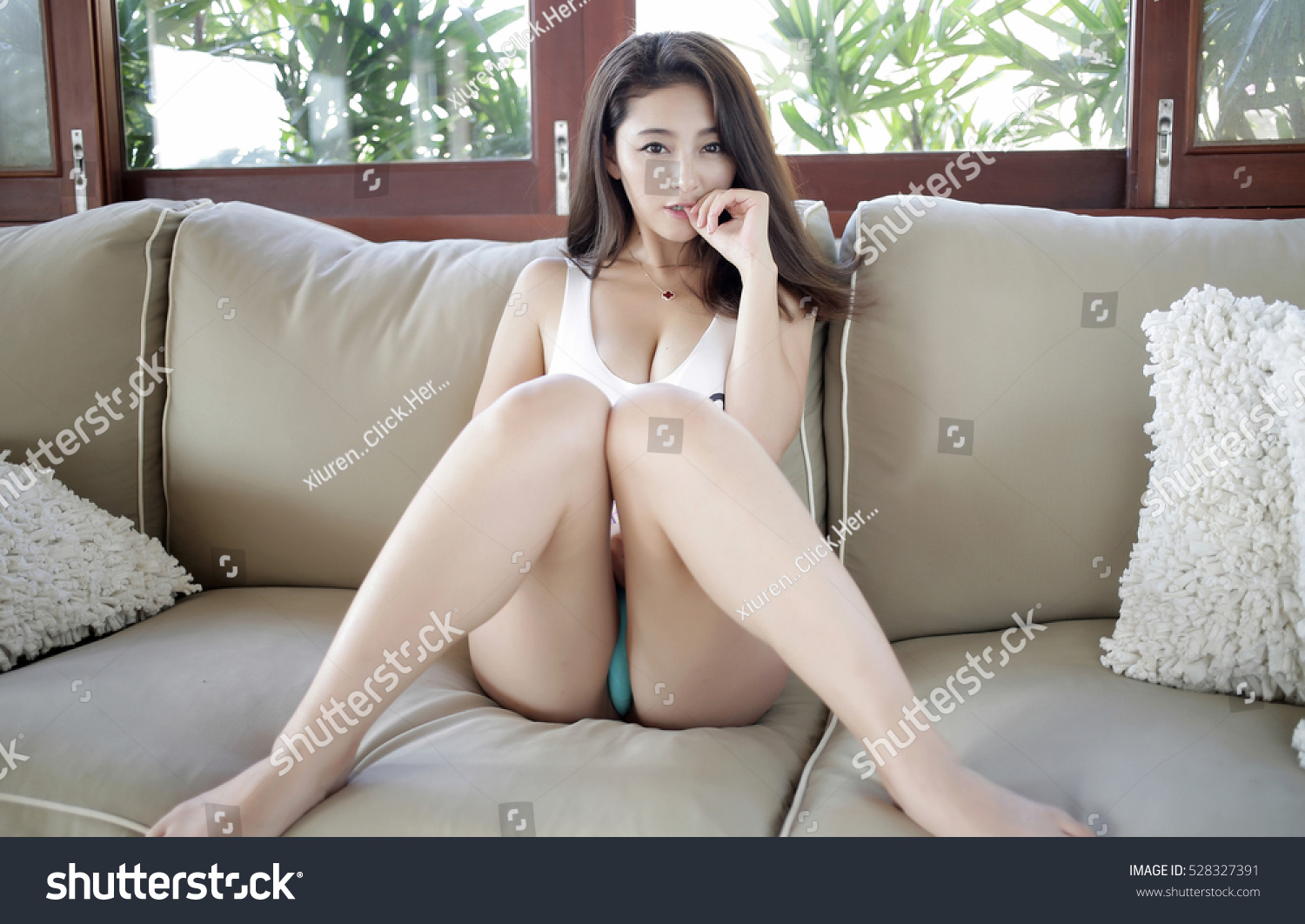 sensual topless erotic asian japanese big stock photo (royalty free