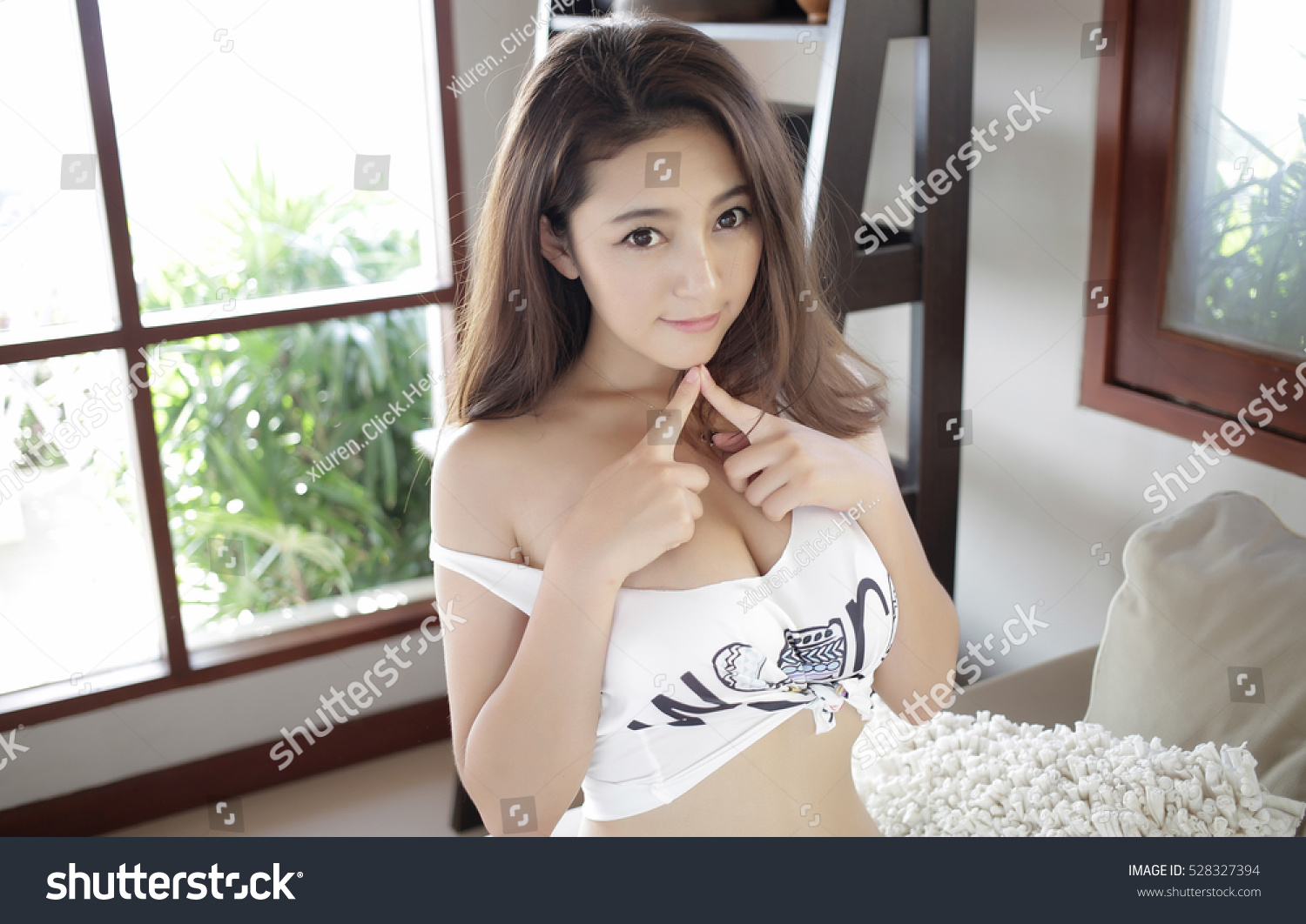 sensual topless erotic asian japanese big stock photo (safe to use