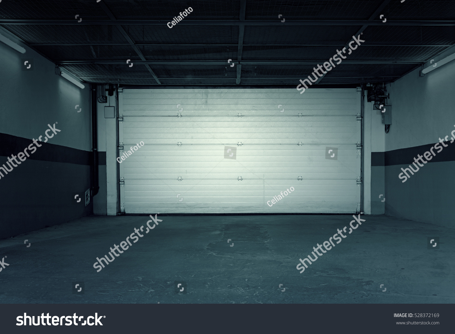Garage Urban House Construction Shelter Stock Photo Royalty Free