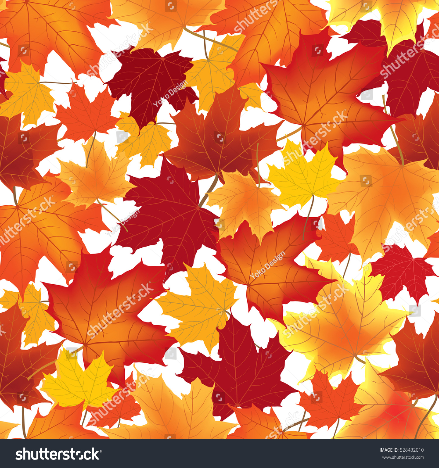 - Fall Leaf Nature Seamless Background Autumn Stock Illustration