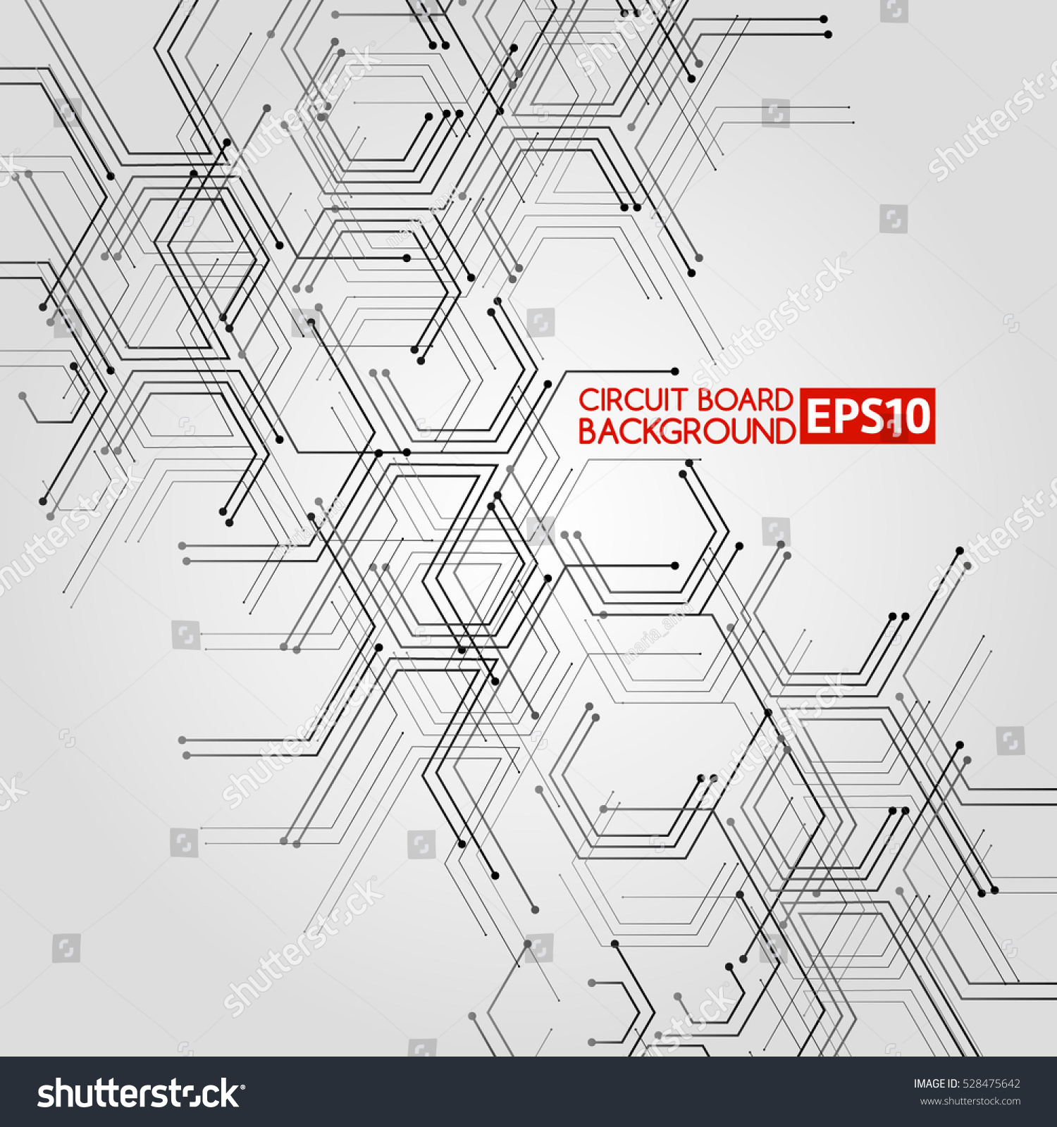 Integrated Circuit Board Stock Vector Illustration 78083728