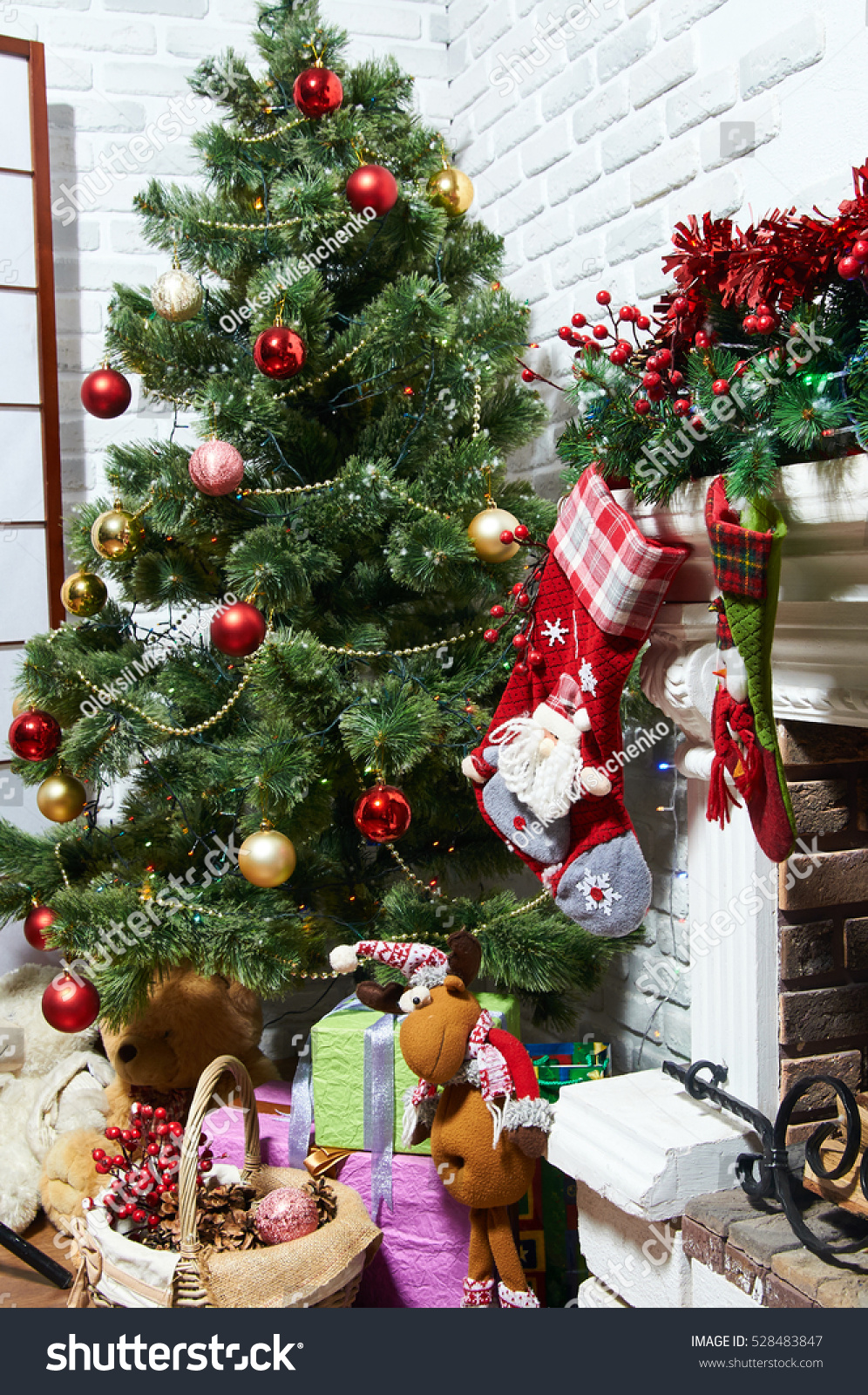 gifts under the Christmas tree with toys | EZ Canvas
