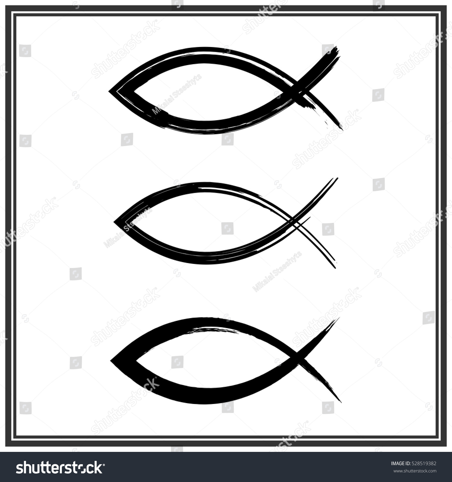 Christian fish symbol vector stock vector 528519382 shutterstock christian fish symbol vector buycottarizona Image collections