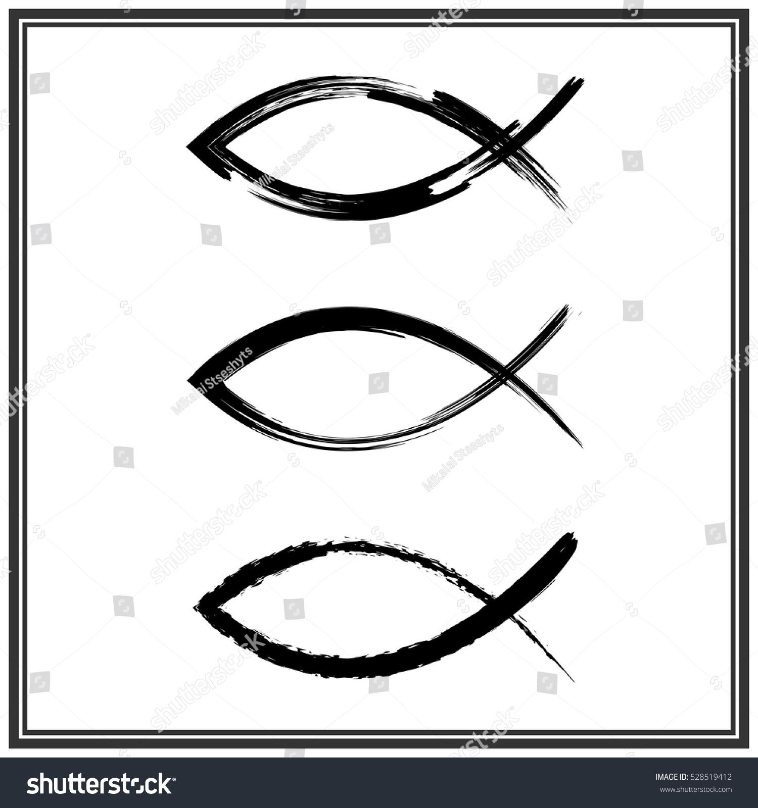 Christian fish symbol vector stock vector 528519412 shutterstock christian fish symbol vector biocorpaavc