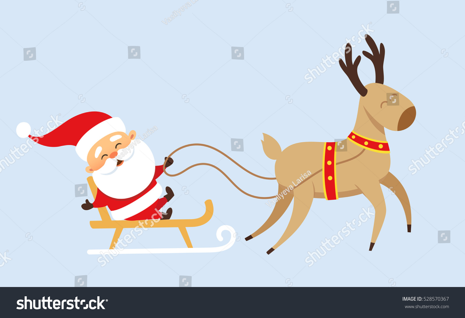 Santa Claus Christmas Set Funny Father Stock Vector Royalty Free