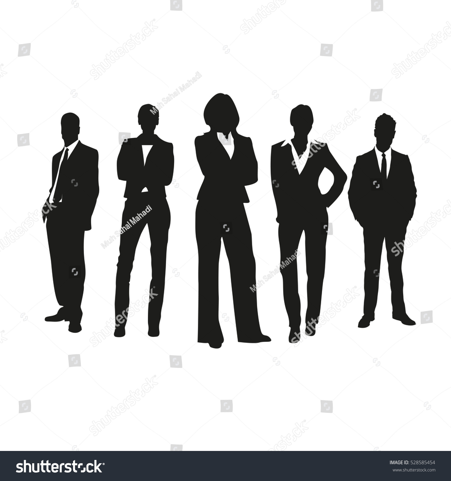 Business People On Silhouettes Stock Vector 528585454 - Shutterstock for Business People Silhouette Png  181obs