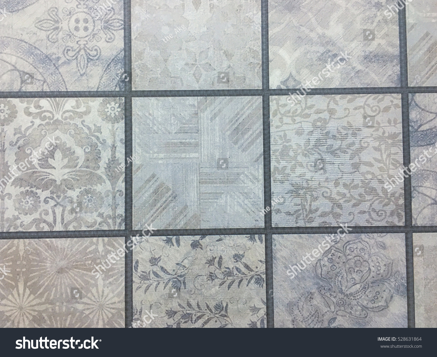 Visual Pattern Floor Tiles Background Stock Photo (Royalty Free ...