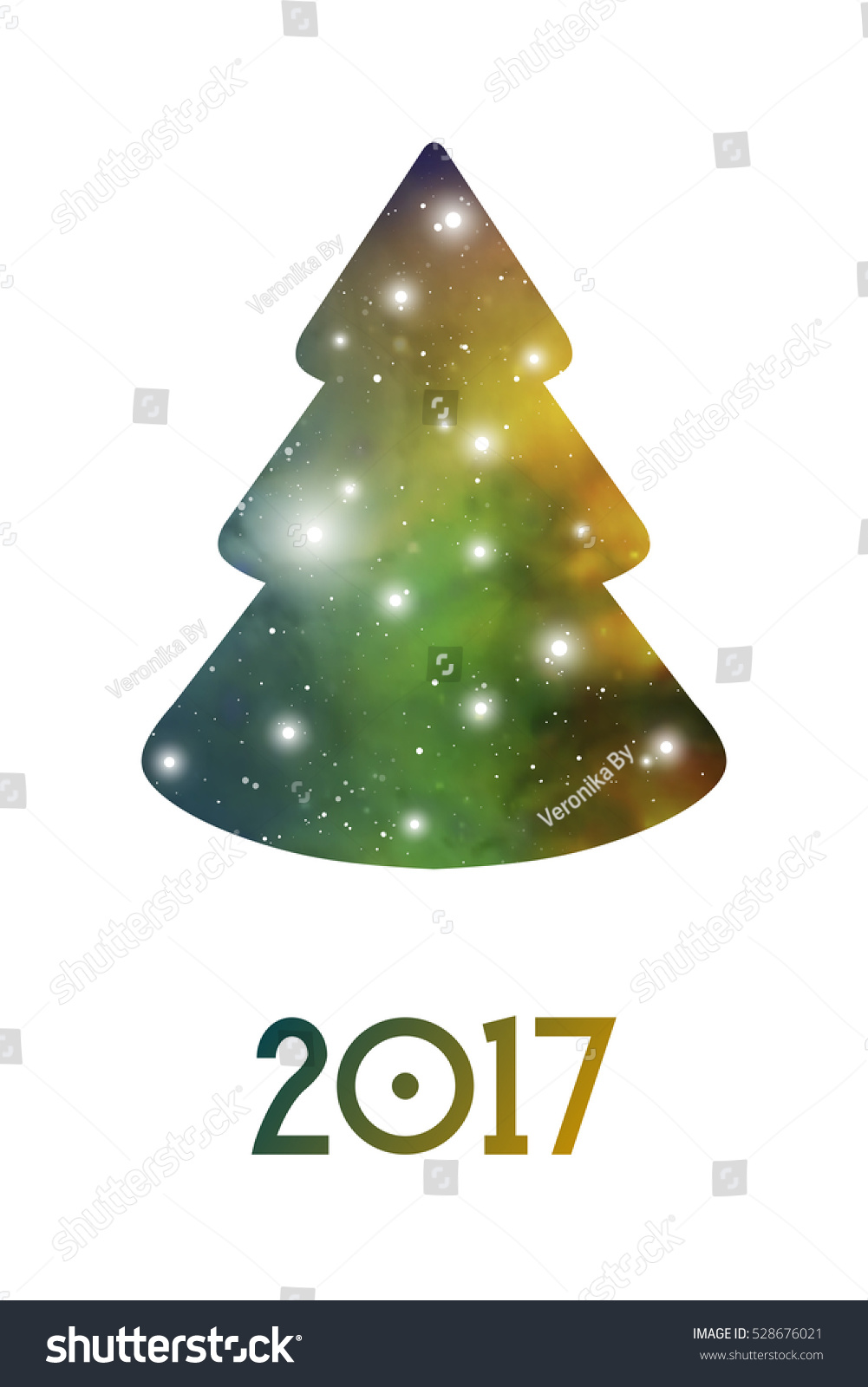 Simple Christmas Greeting Card New Year Stock Vector 528676021