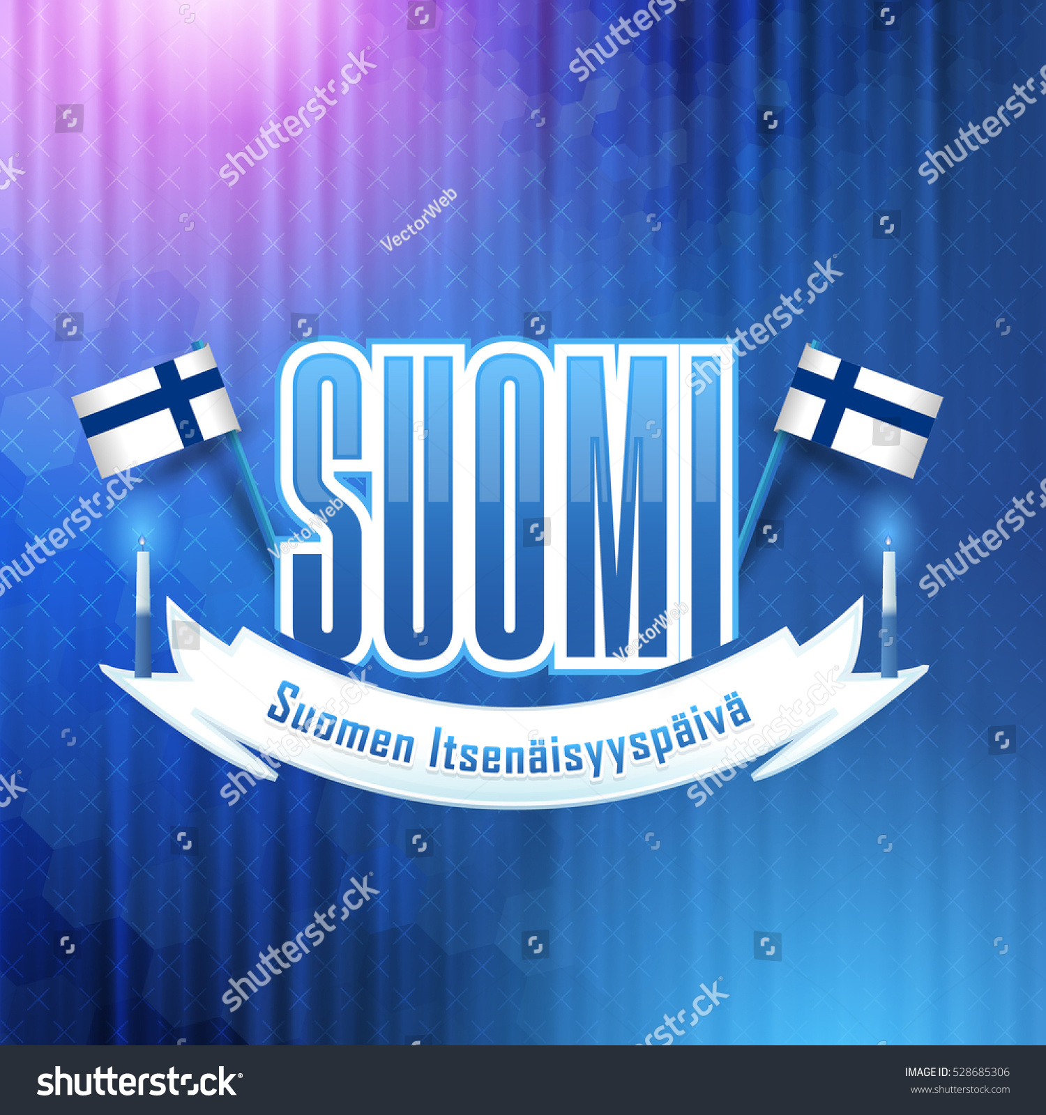 Republic Finland Independence Day Low Poly Stock Vector 528685306 - Shutterstock