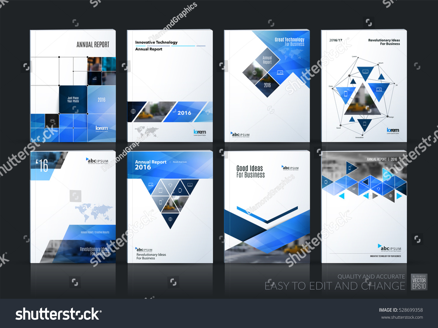 business vector set brochure template layout stock vector royalty