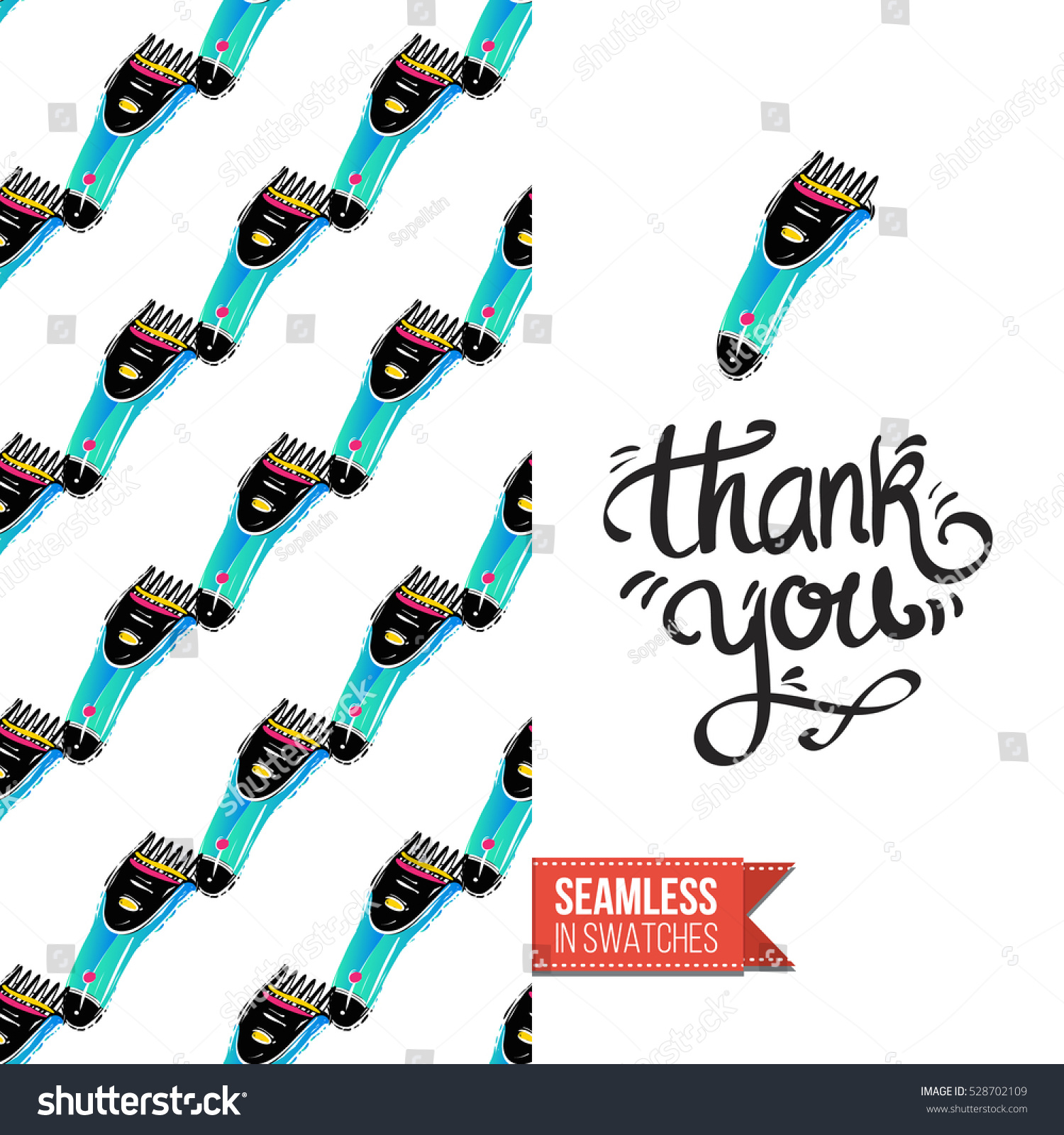 Greeting Card Promotion Beauty Salon Seamless Stock Vector 528702109