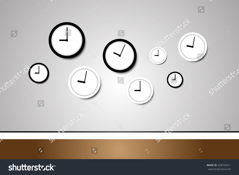Clock on wall design vector stock vector 528743911 shutterstock clock on the wall design vector amipublicfo Gallery