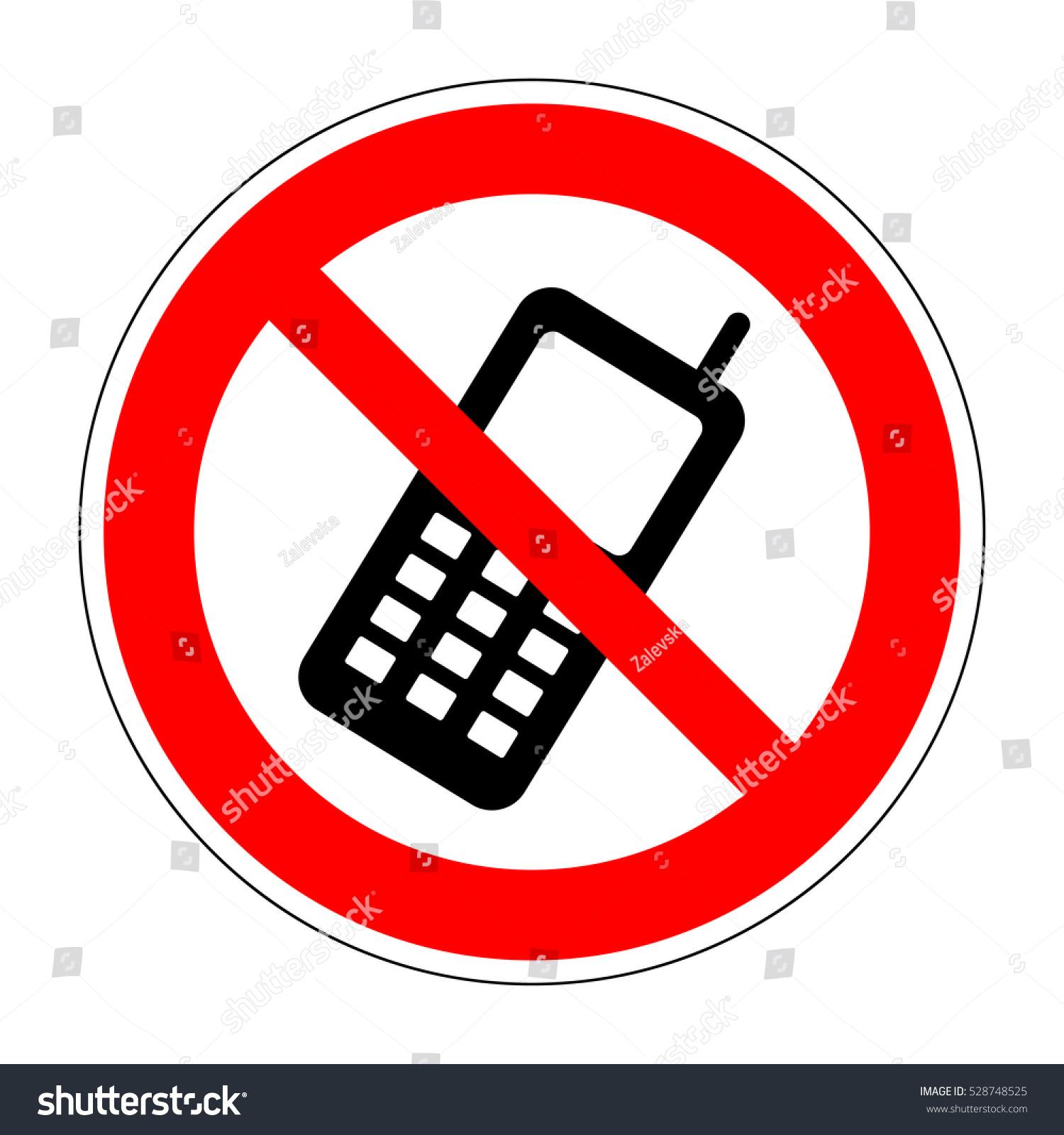 No Phone Sign No Smartphone Icon Stock Illustration 528748525