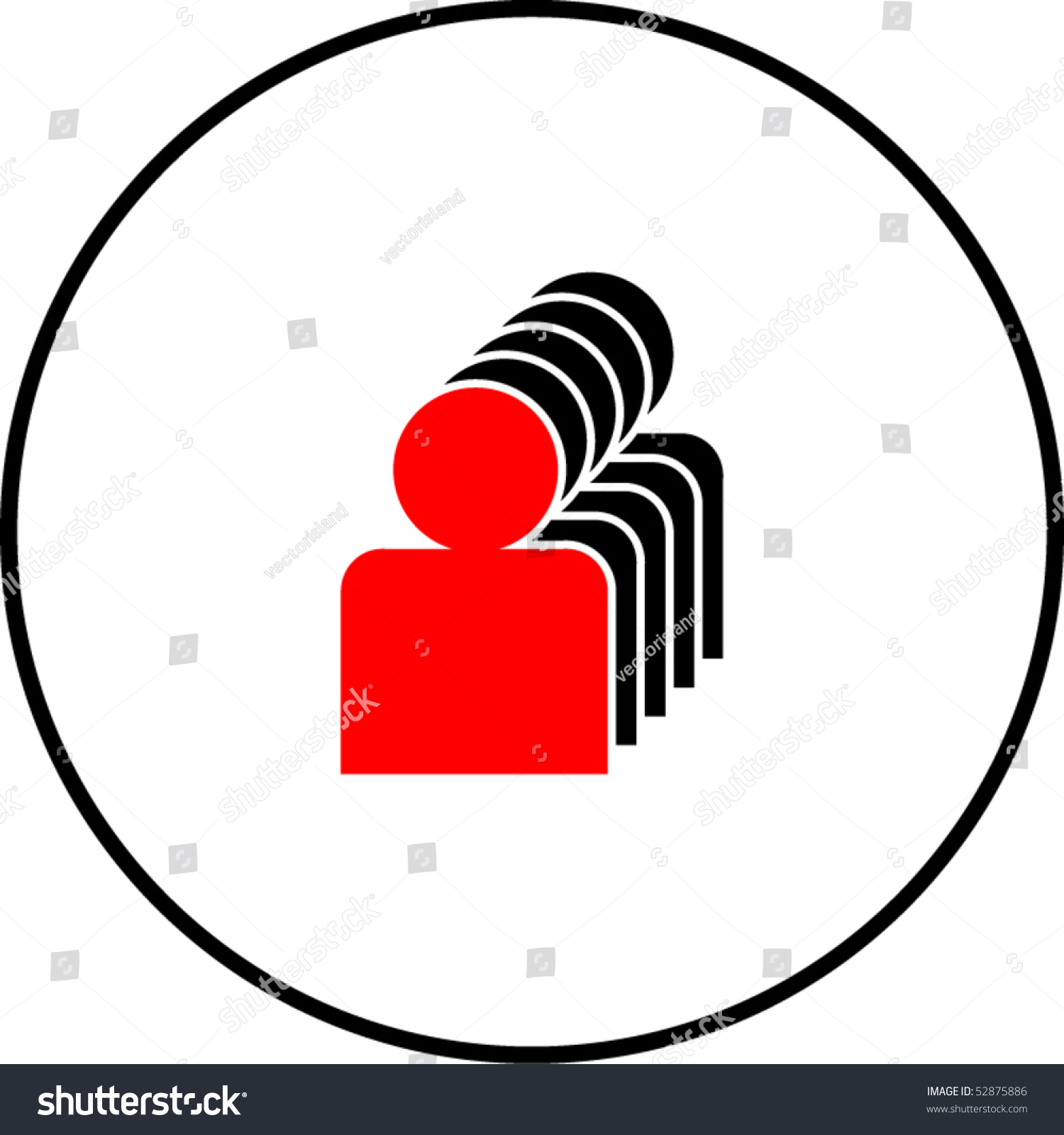 first line leader symbol stock vector 52875886 shutterstock first in line or leader symbol