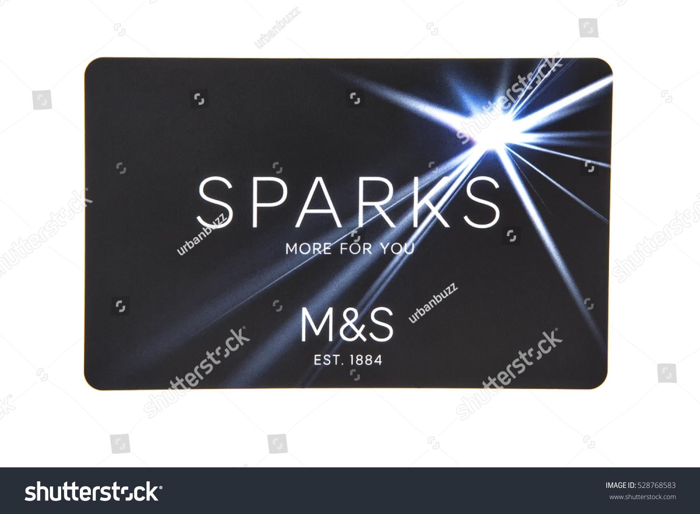 Swindon uk december 4 2016 marks stock photo 528768583 shutterstock swindon uk december 4 2016 marks spencer sparks card on white kristyandbryce Image collections