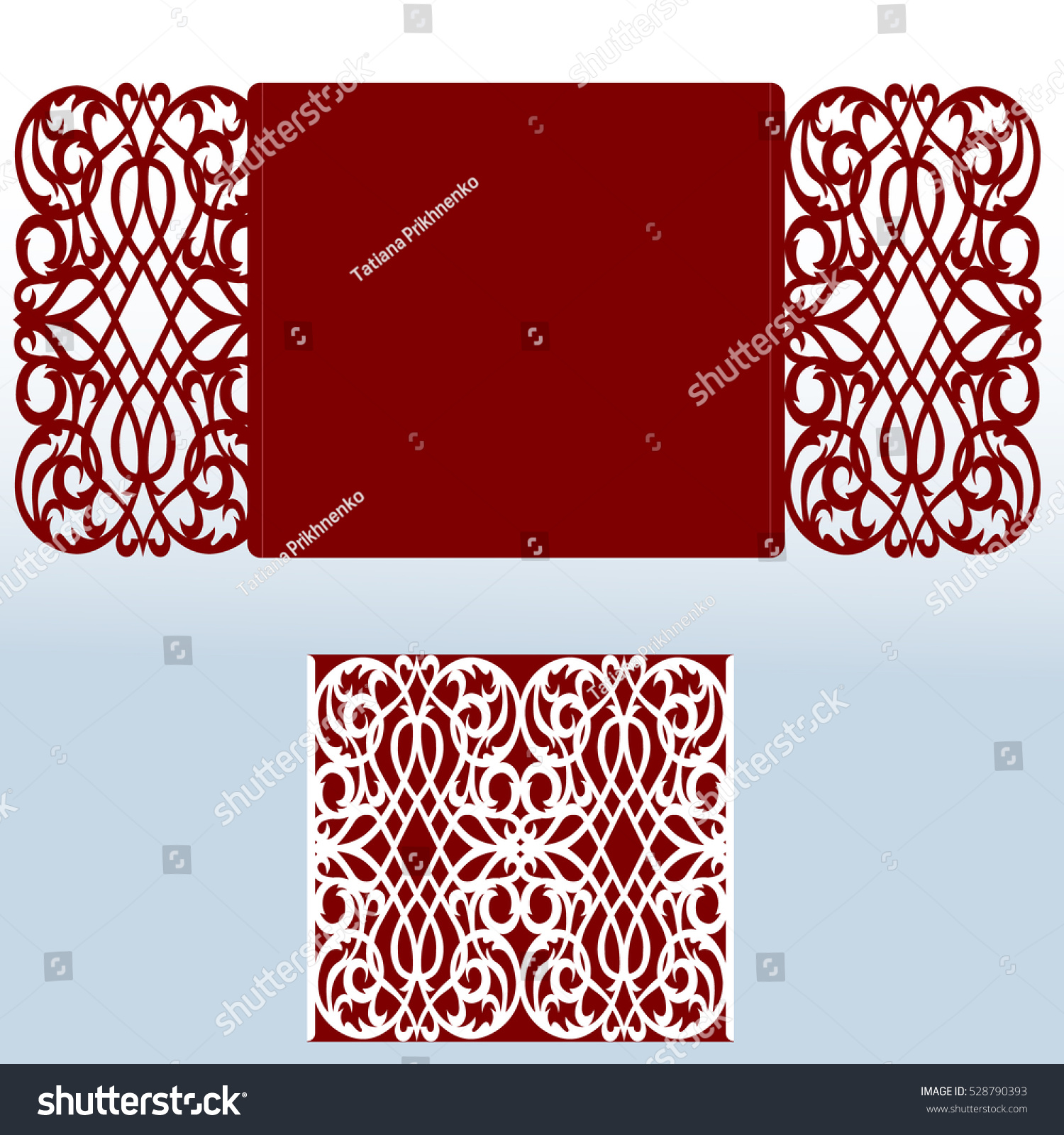Card Laser Cutting Vs Die Cutting Stock Vector (Royalty Free ...