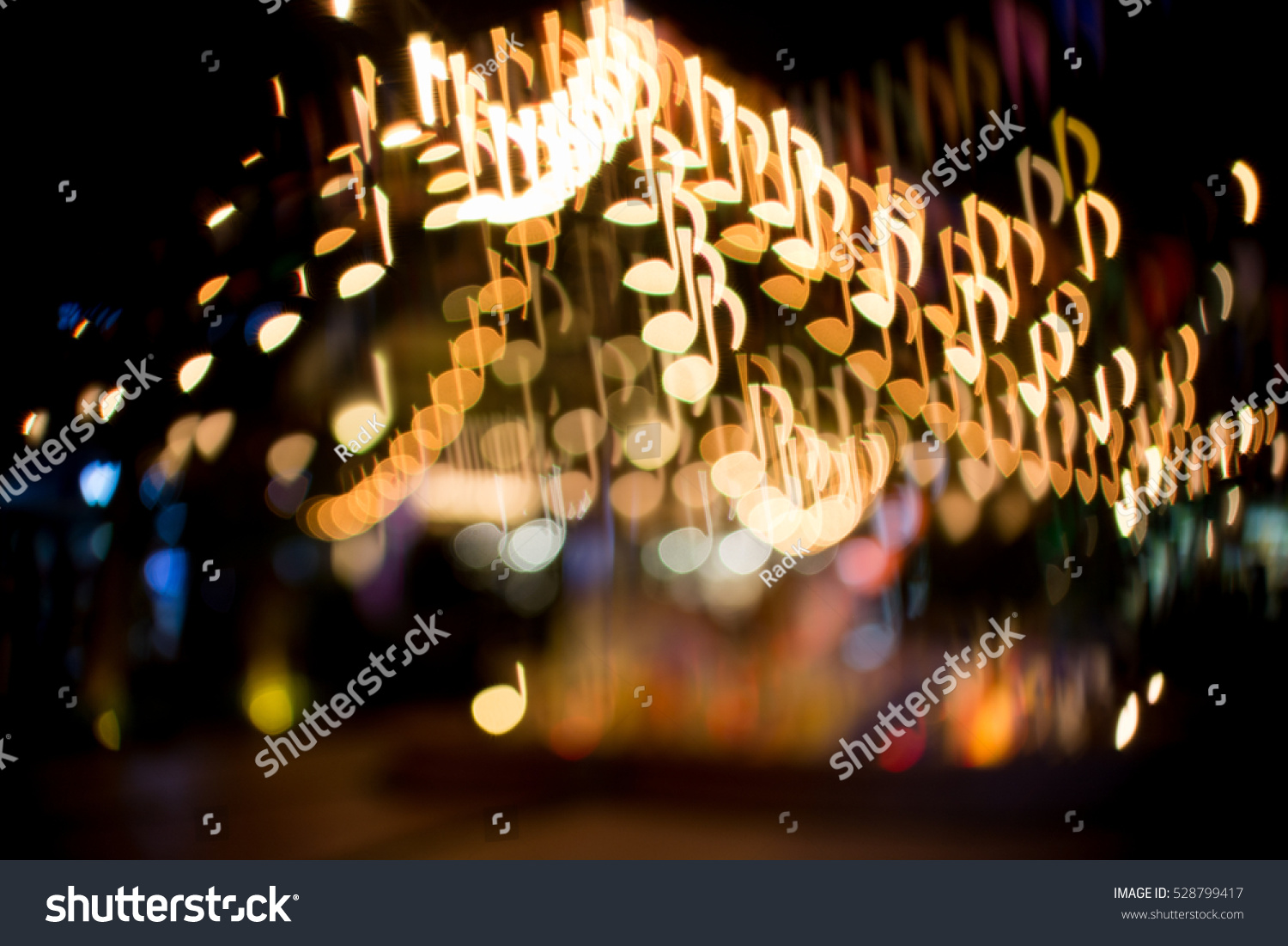 Blurred Abstract Background Christmas Light Music Stock Photo (Edit ...