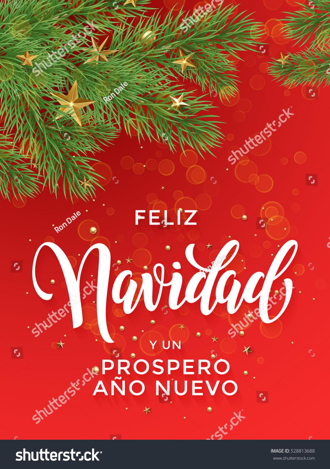 Feliz Navidad Y Prospero Ano Nuovo Stock Vector 2018 528813688
