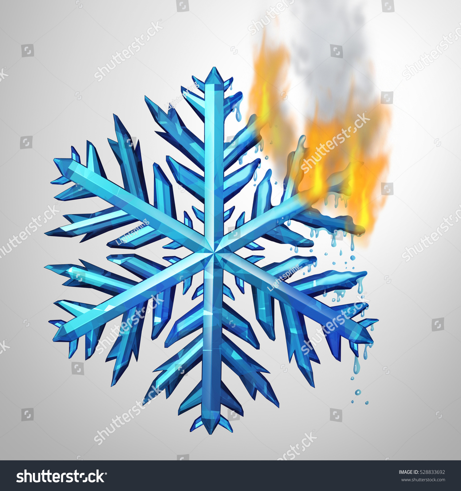 Changing Climate Concept Frozen Ice Crystal Stock Illustration ...