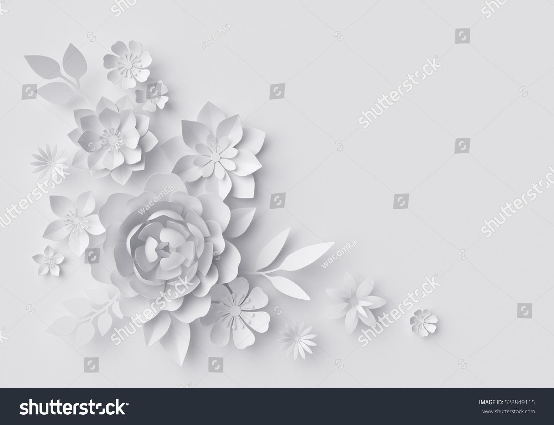 3 D Render Digital Illustration White Paper Stock Illustration