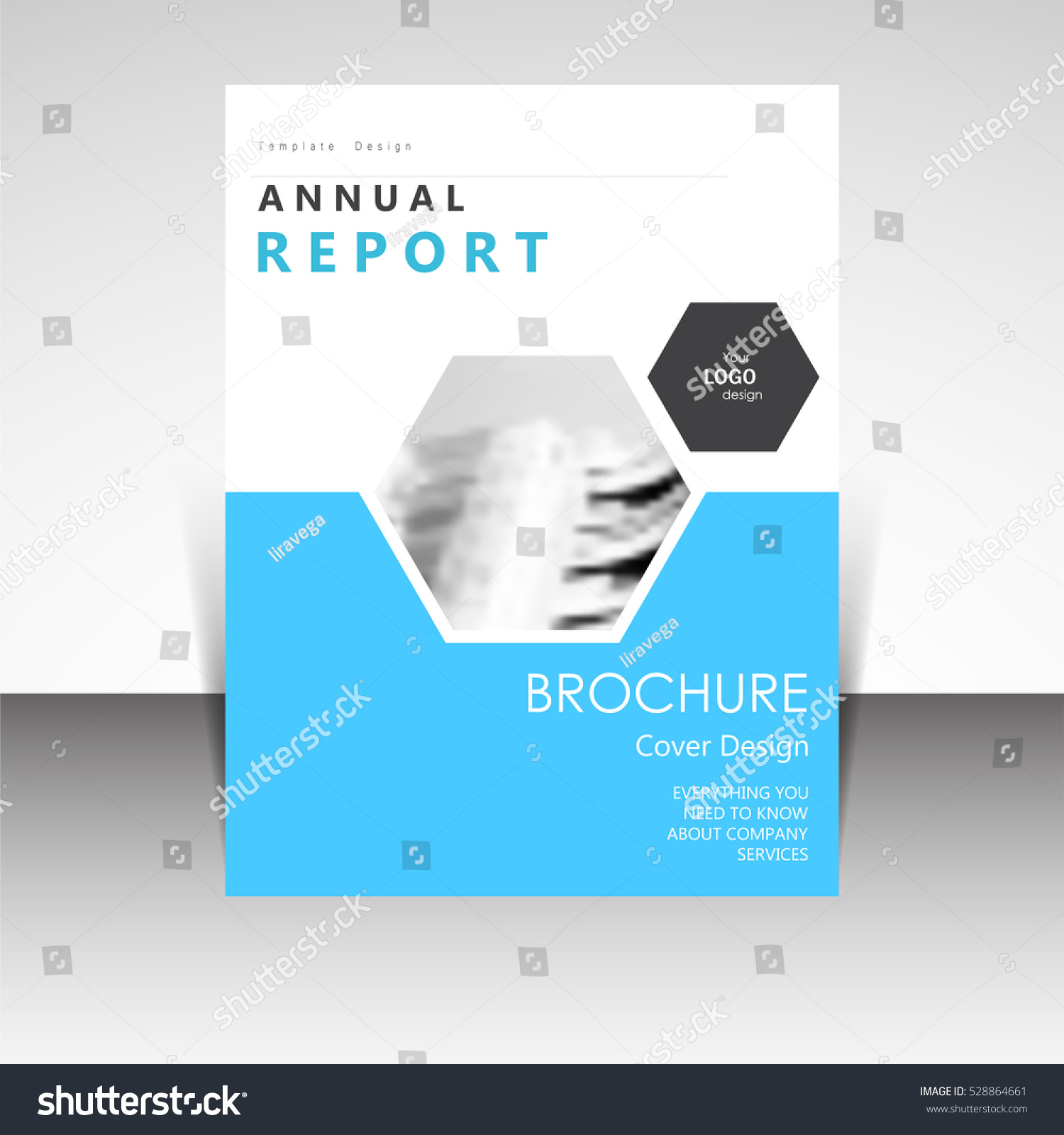 business annual report brochure design vector stock vector royalty