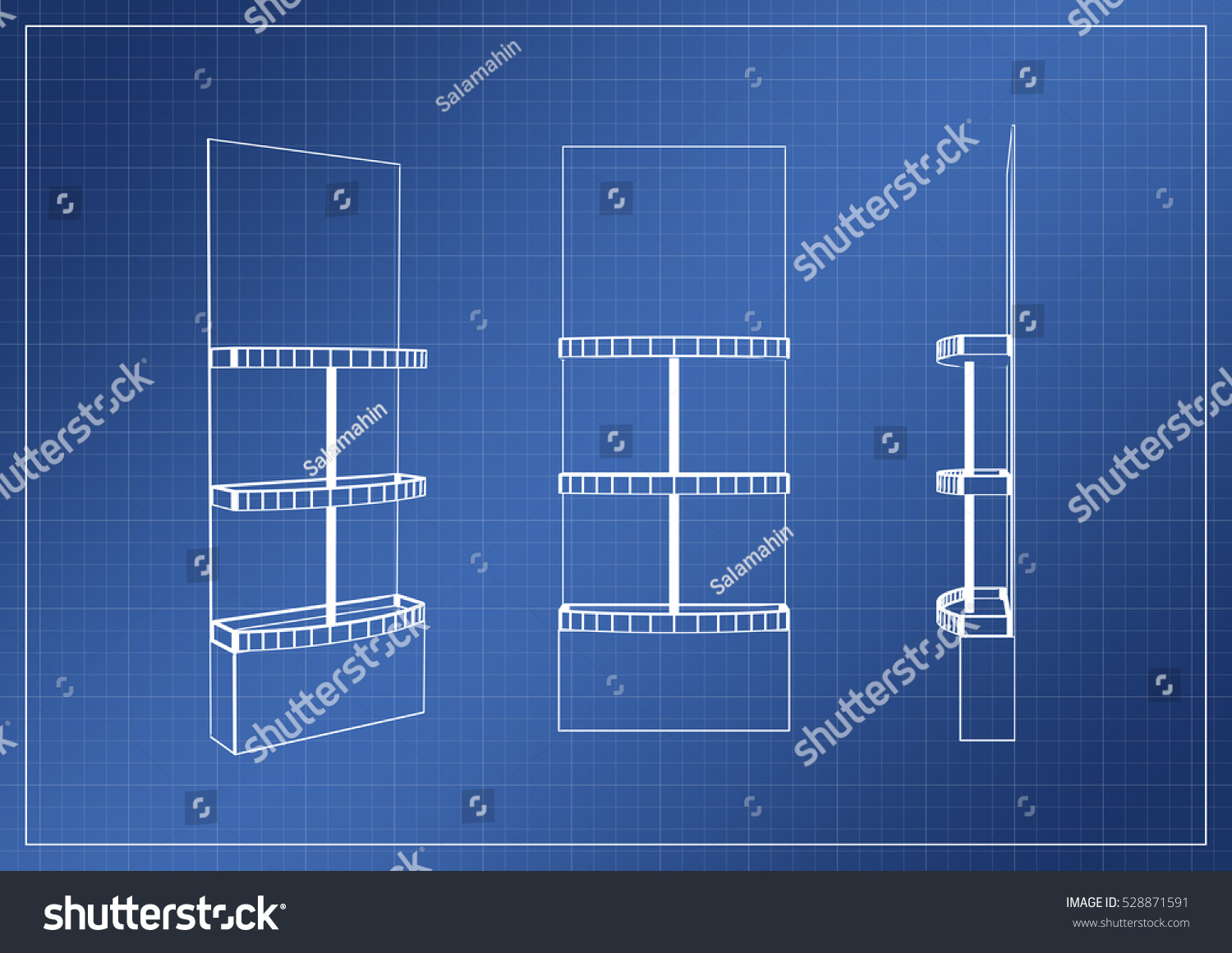 Stand on paper blueprint 3 d rendering stock illustration 528871591 stand on paper blueprint 3d rendering malvernweather Images